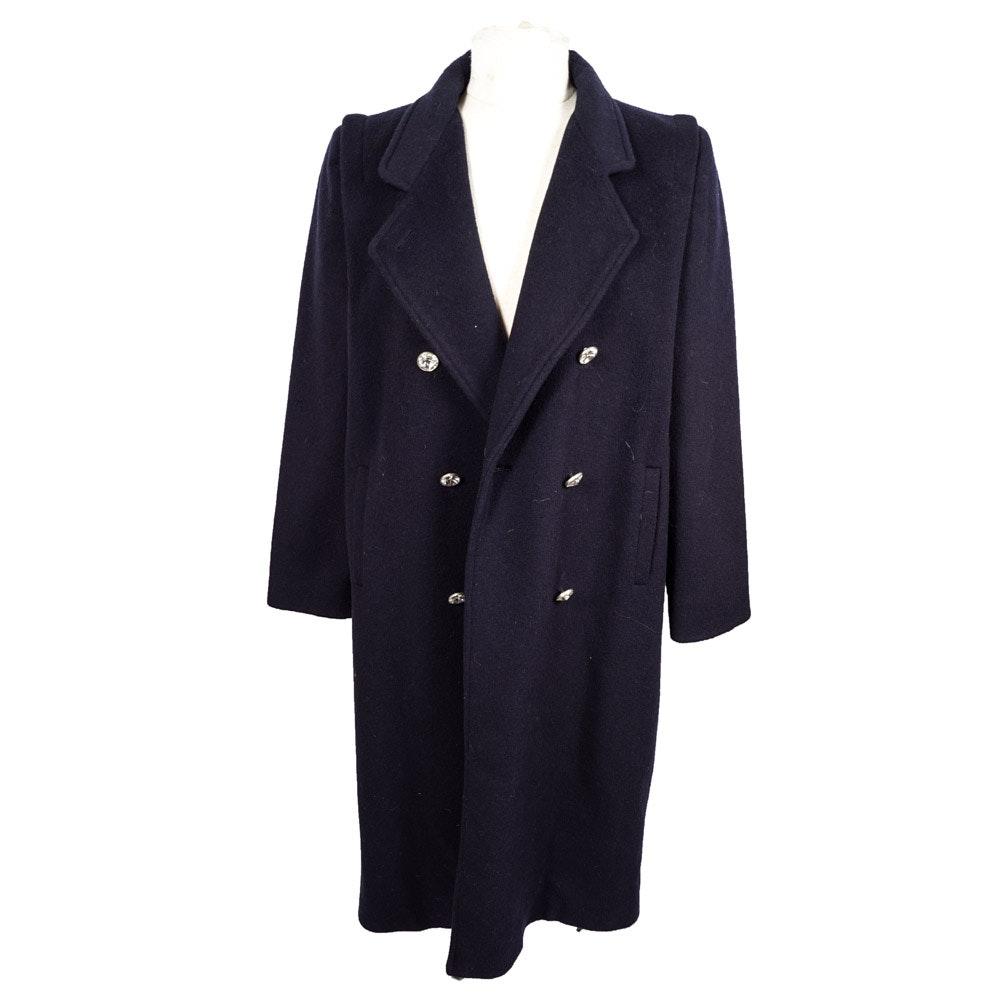 Women's Vintage International Scene Wool Blend Coat