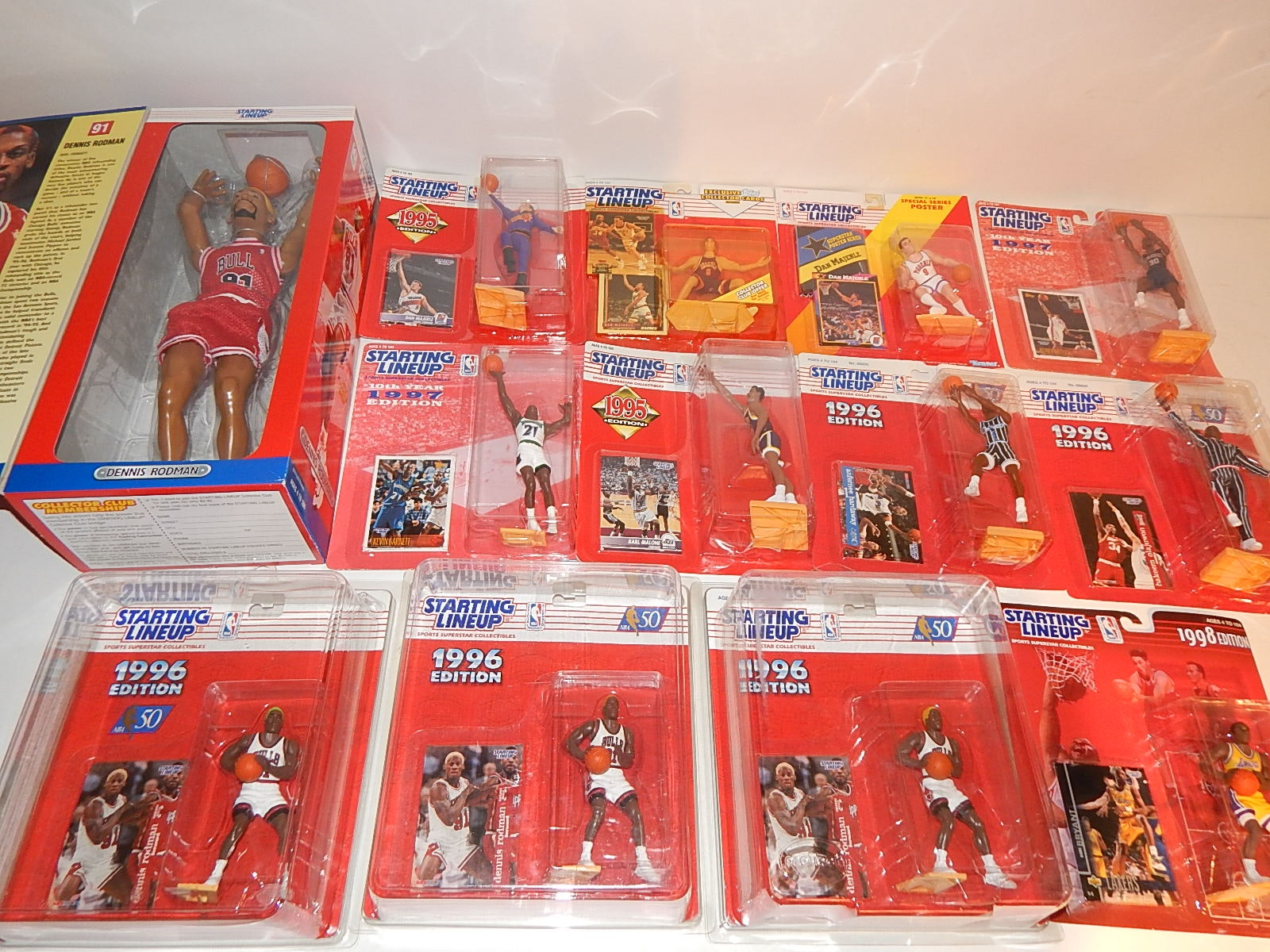 1996 Through 1998 Basketball Starting Lineup Figures