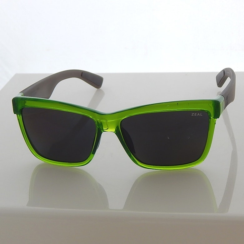 Zeal Lime Green and Grey Polarized Sunglasses