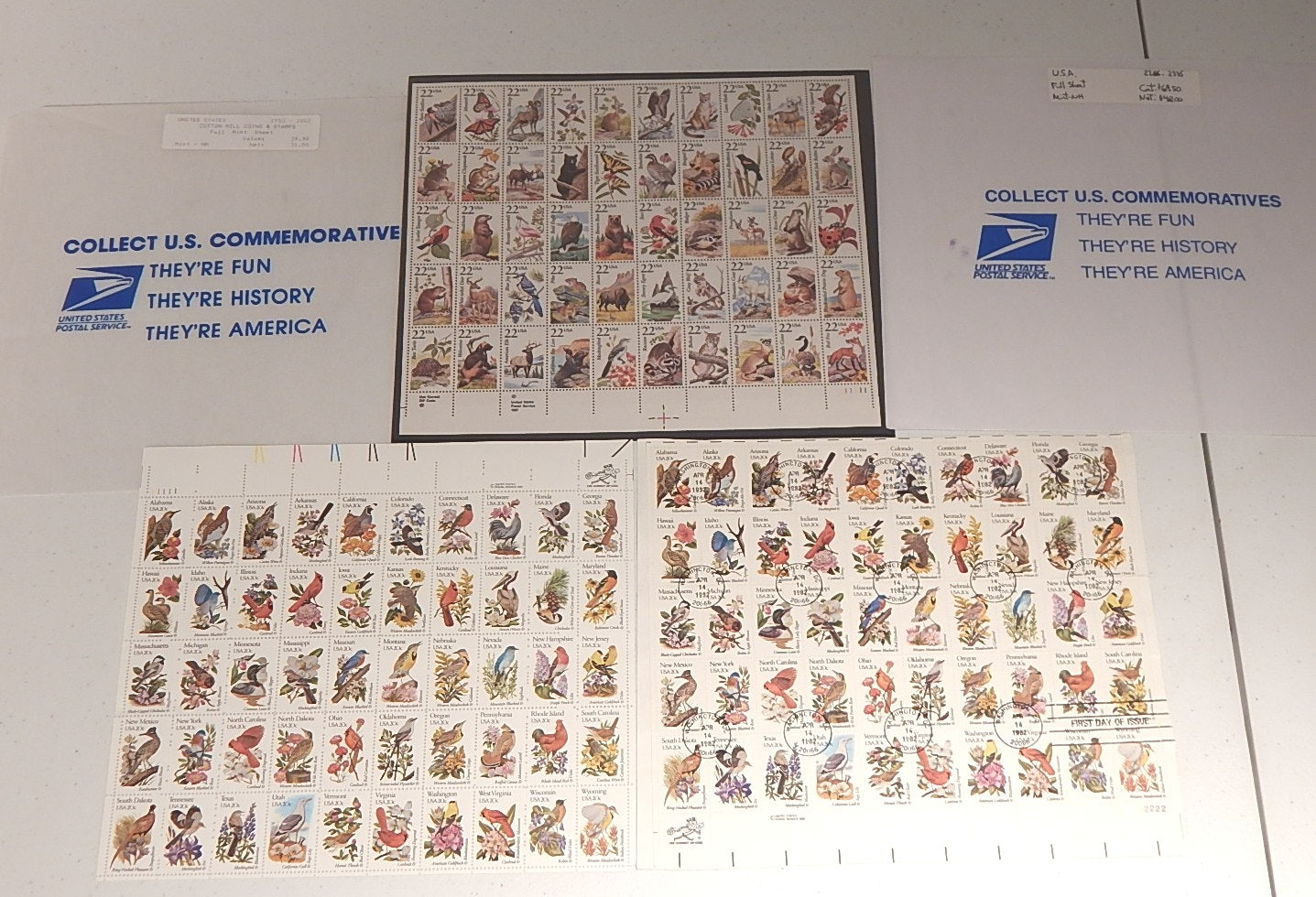 Stamp Collection with First Issue Birds