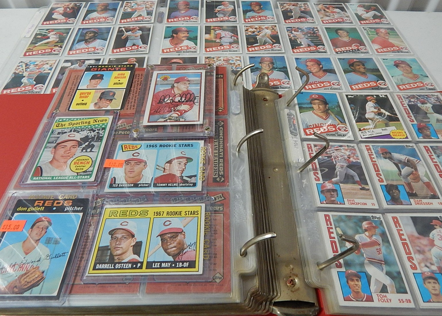 Cincinnati Reds Baseball Card Album from 1980s