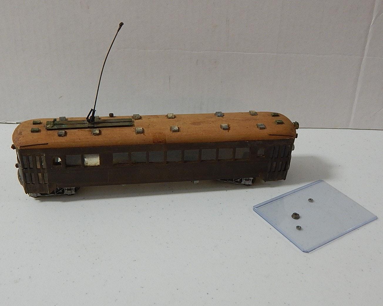Handmade Wood HO Scale Trolley Car