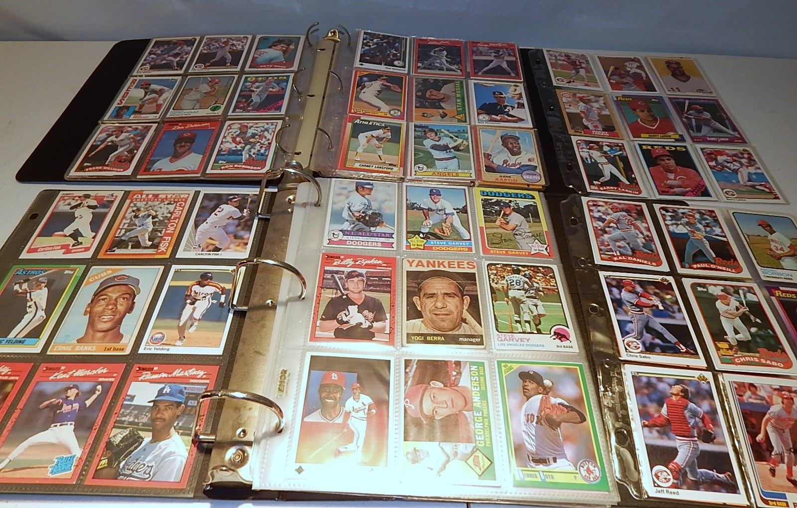 Two Albums of Baseball Cards with Stars from 1960s through 1990s