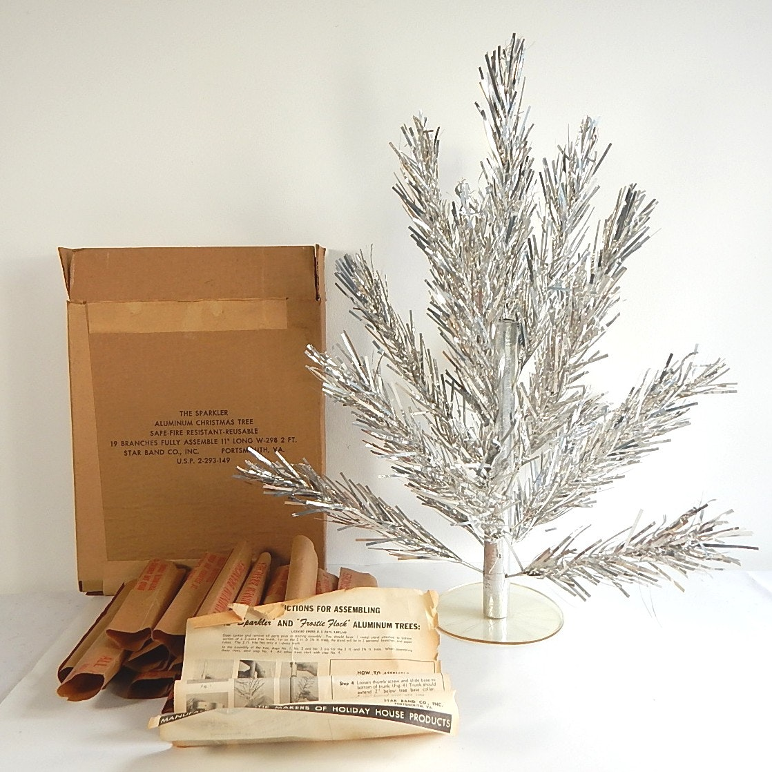 Vintage Table Top Aluminum Christmas Tree