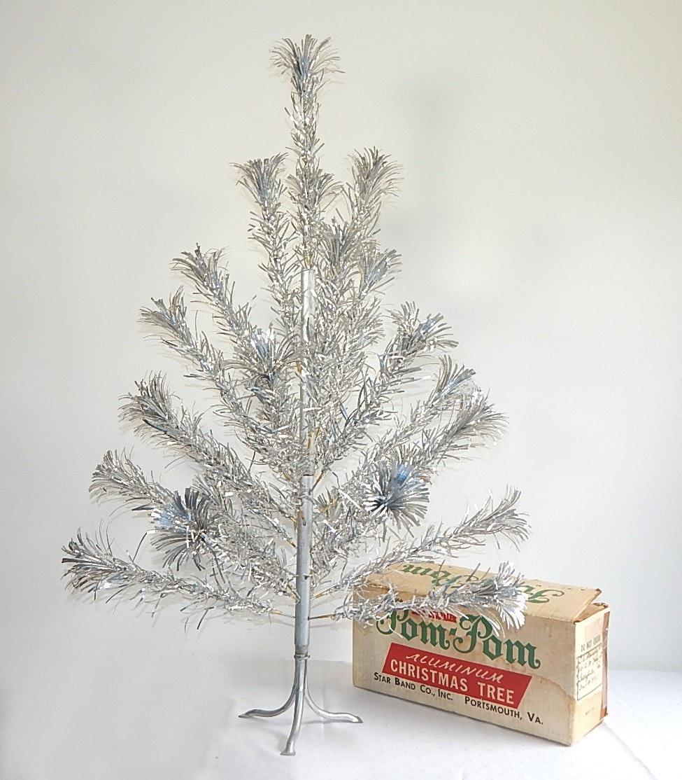 Vintage 3' Pom Pom Aluminum Christmas Tree