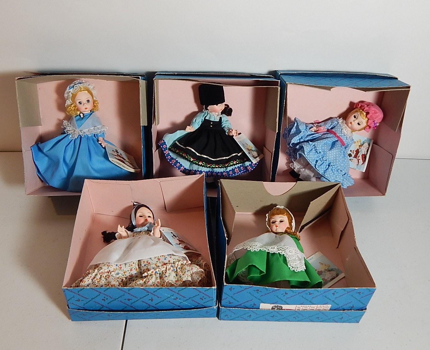 Five Madame Alexander Little Women Dolls