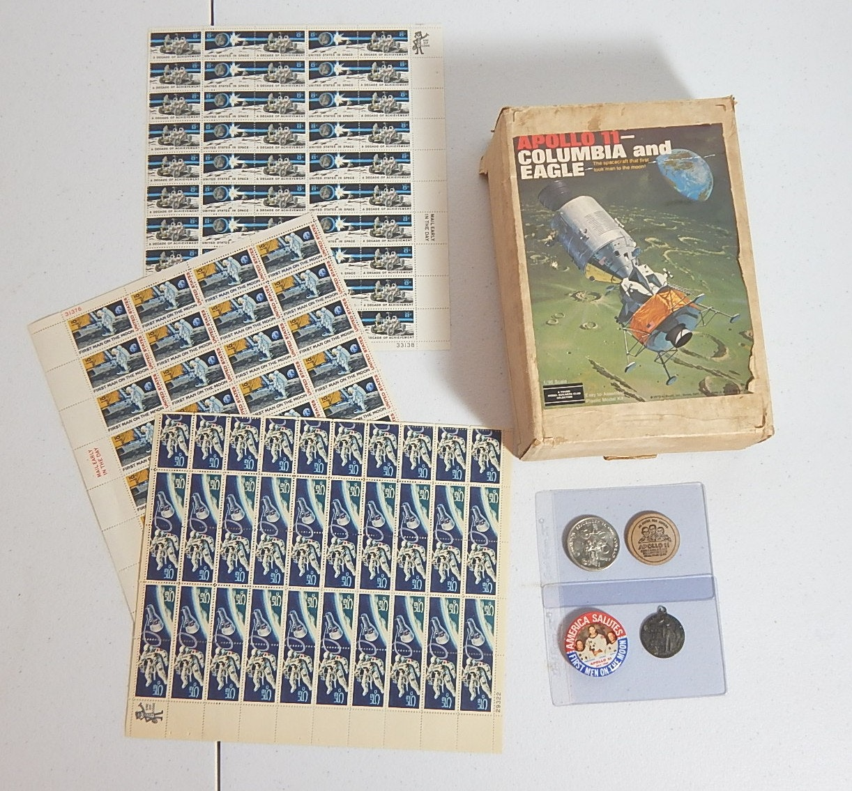 Space and Aeronatical Related Collectibles with Stamps and Model
