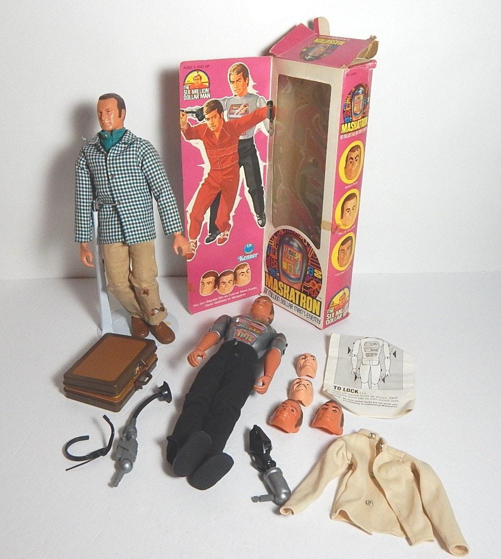 Six Million Dollar Man and Kenner Maskatron Doll