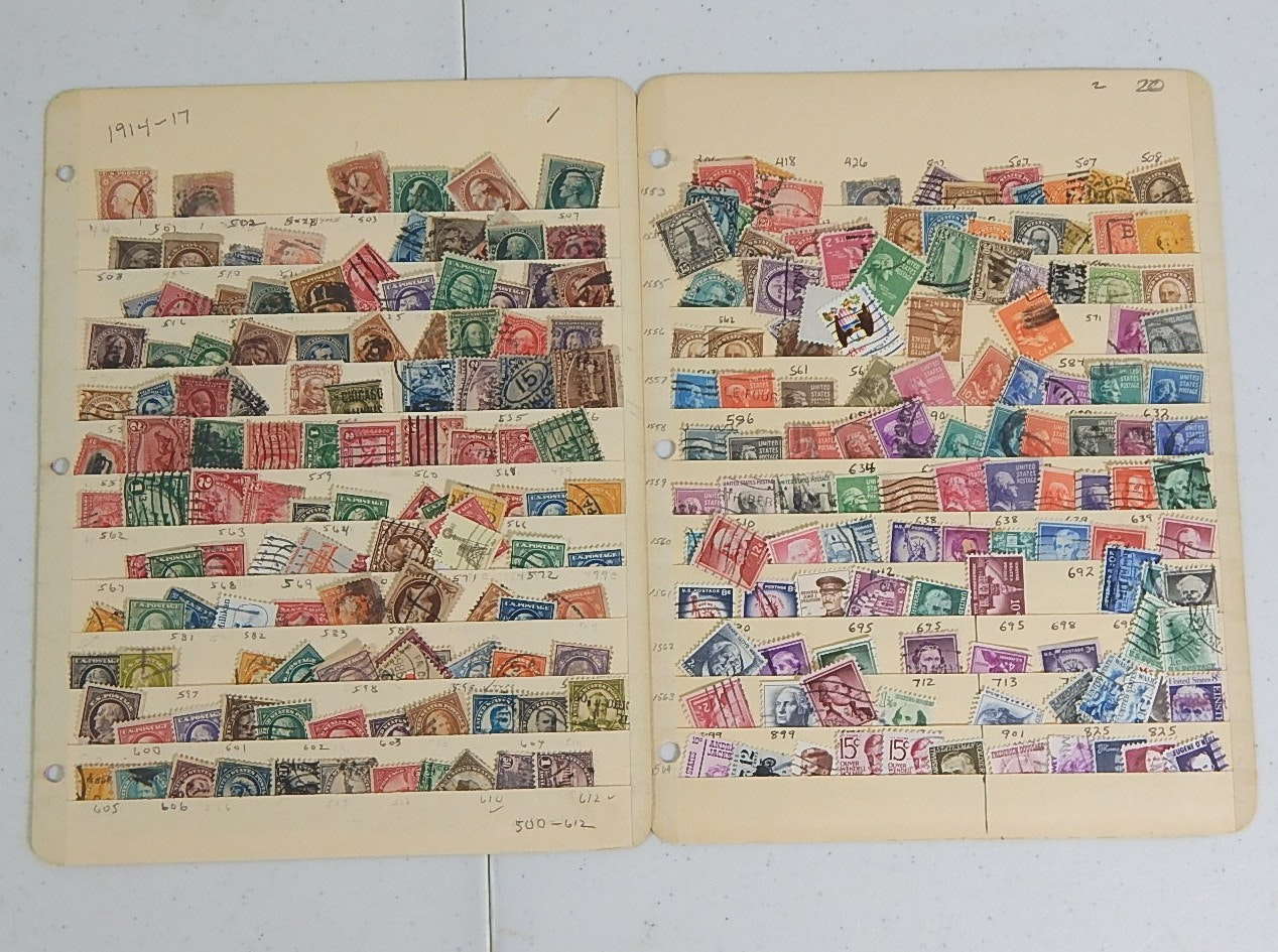 Two Scott Stamp Collecting Pages