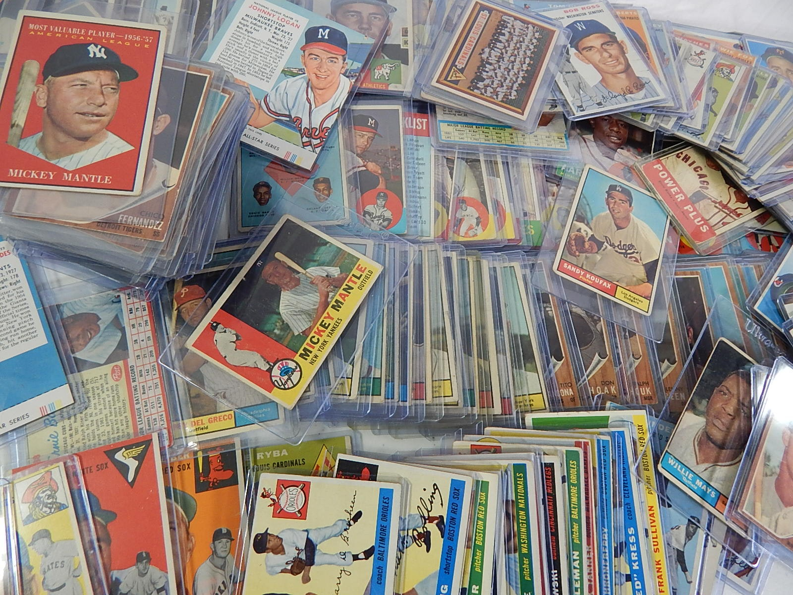 Large 1953 through 1964 TOPPS Baseball Card Collection