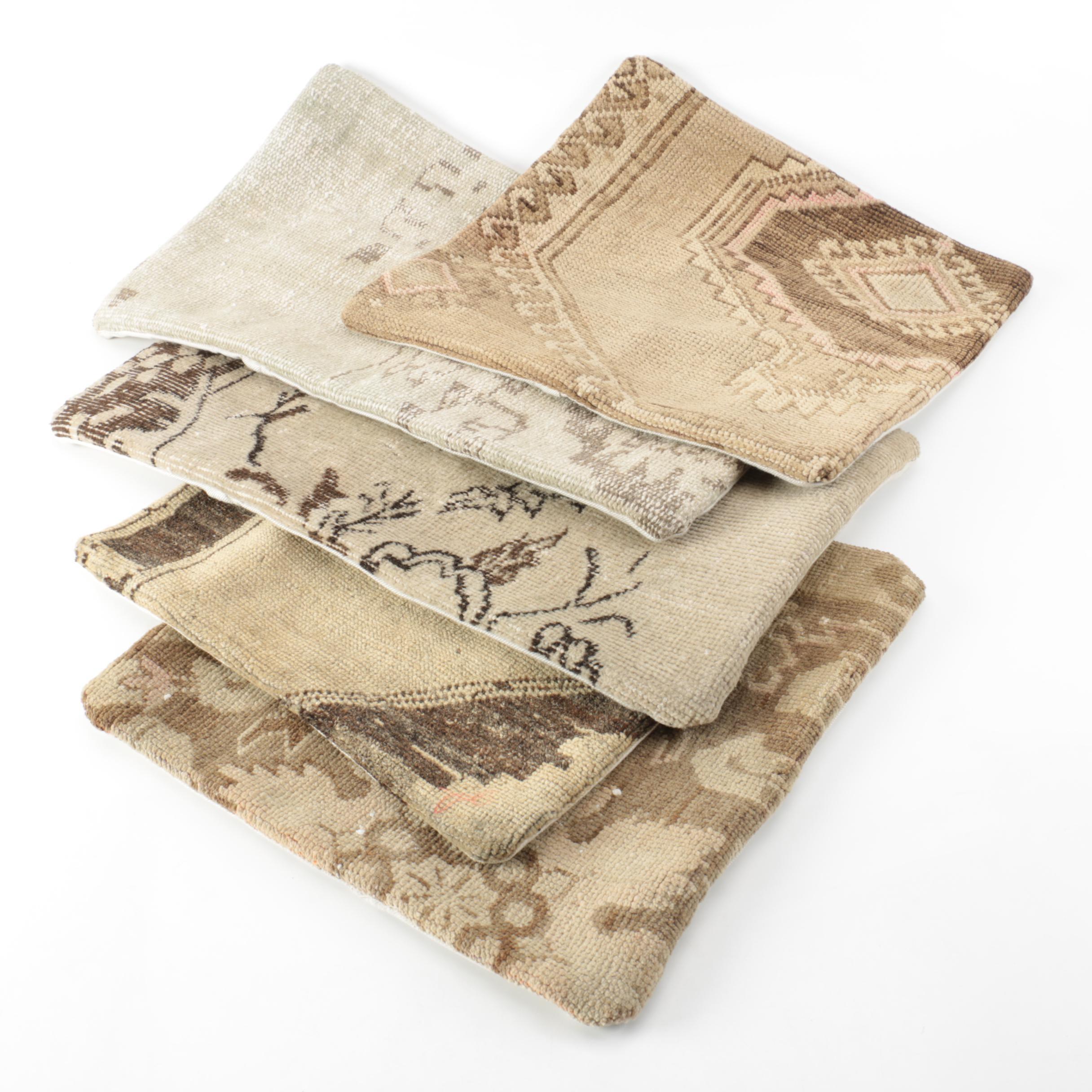 Handwoven Carpet Remnant Decorative Pillow Covers