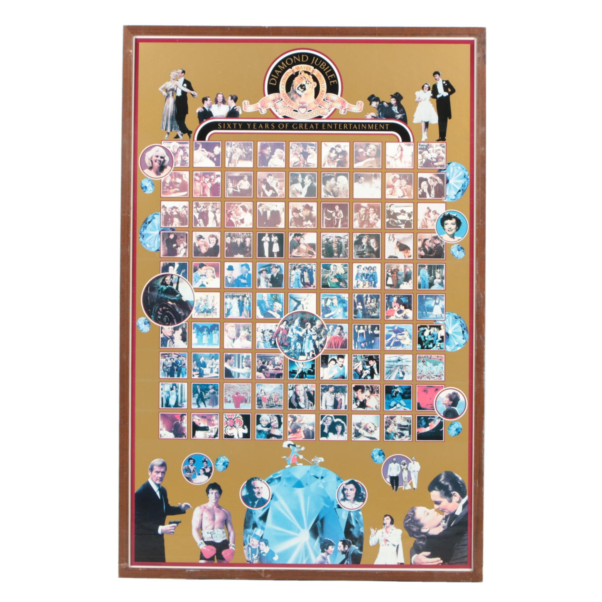 "Offset Lithograph Poster for Metro-Goldwyn-Mayer's ""Diamond Jubilee"""