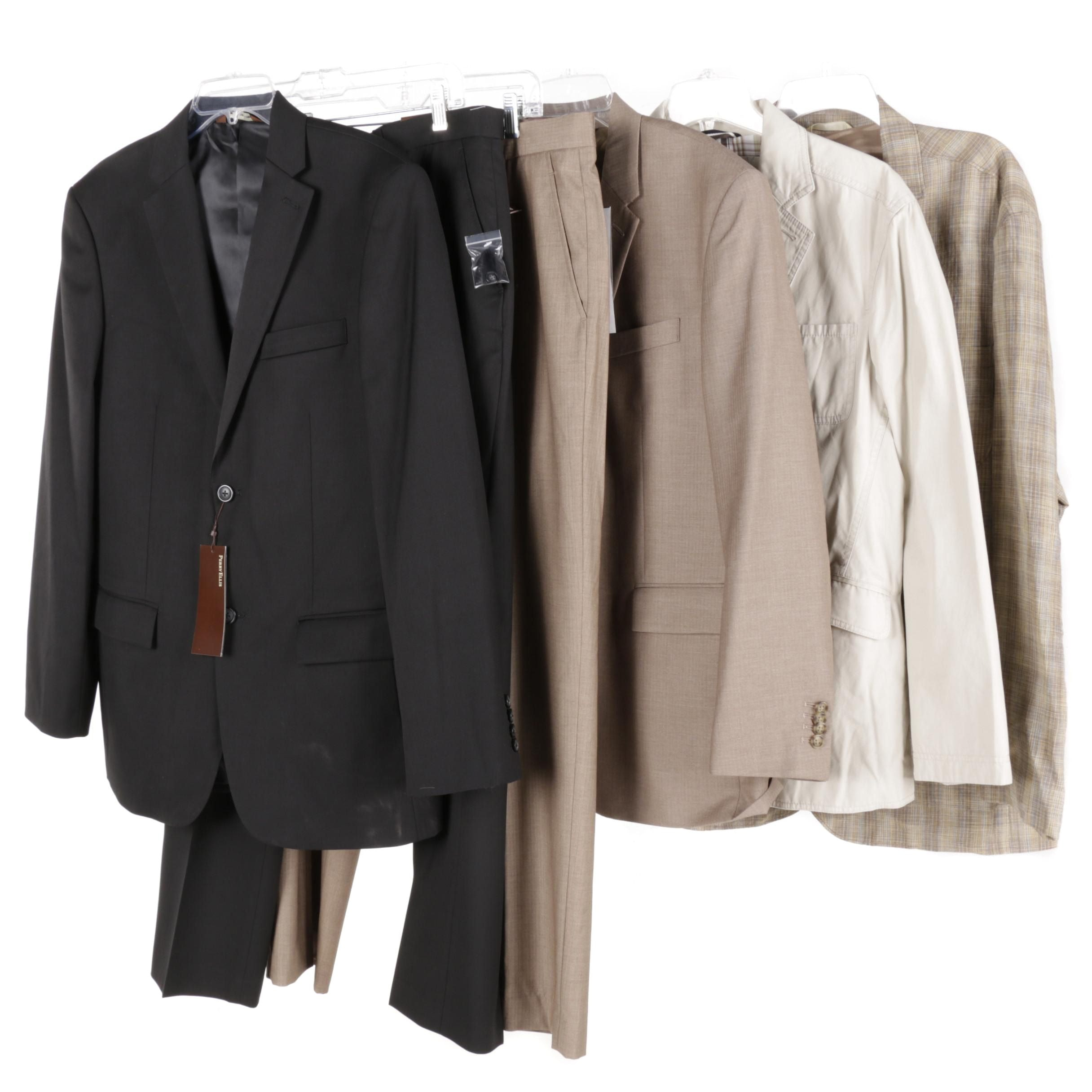 Men's Suits and Suit Jackets Including Perry Ellis