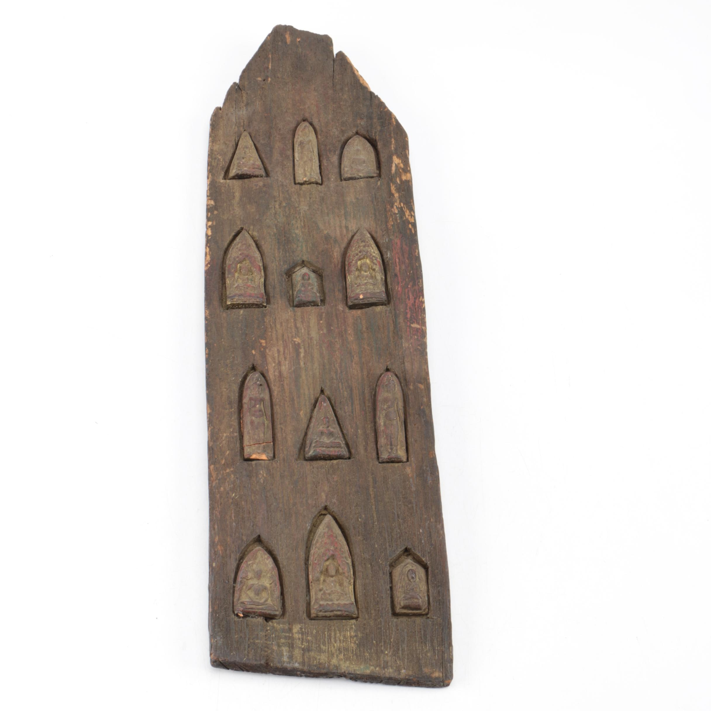 Antique Wooden Carving depicting Meditative Poses