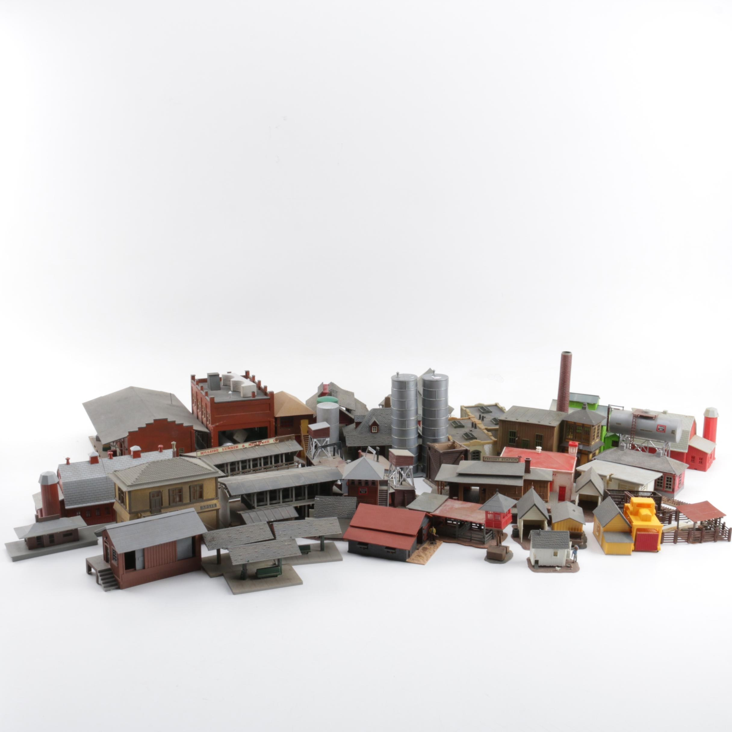 Assortment of Landscape Buildings for Model Railroads