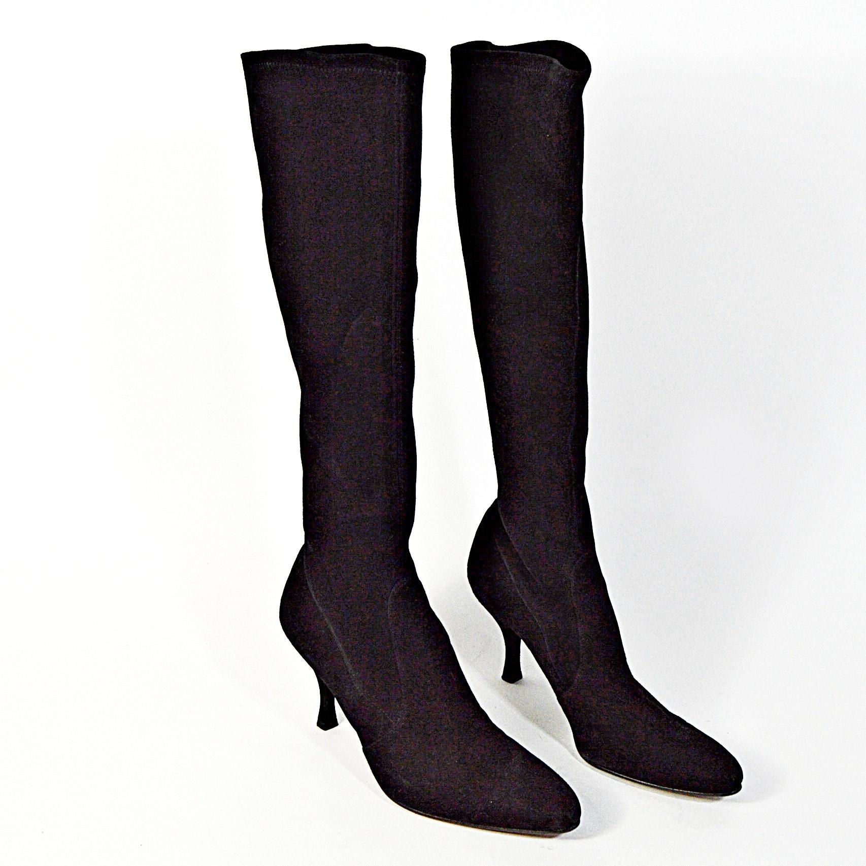 Stuart Weitzman Black Suede Boots, 8.5M