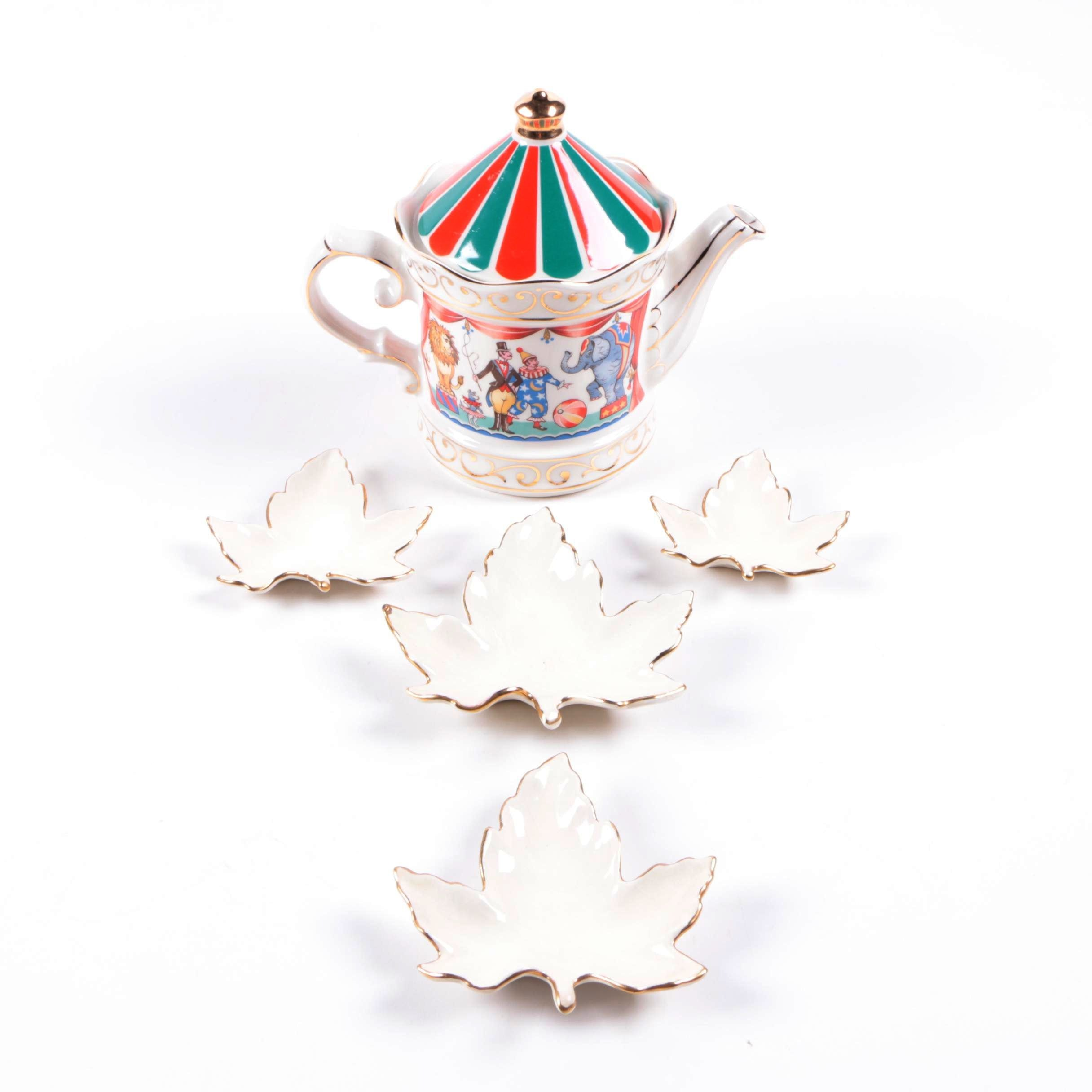 "Porcelain Tableware Including Sadler ""Circus"" Teapot"