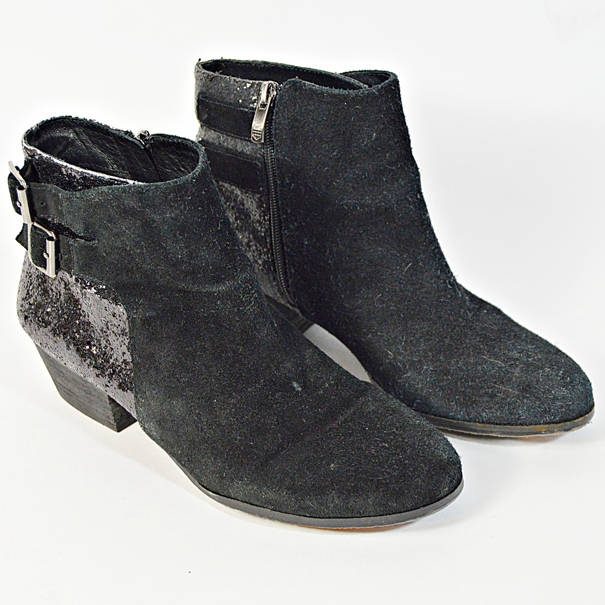 Vince Camuto Black Suede Boots, 10M