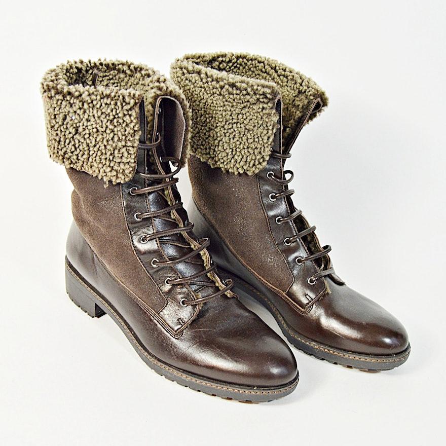 38db0cc56741 Via Spiga Brown Leather Boots