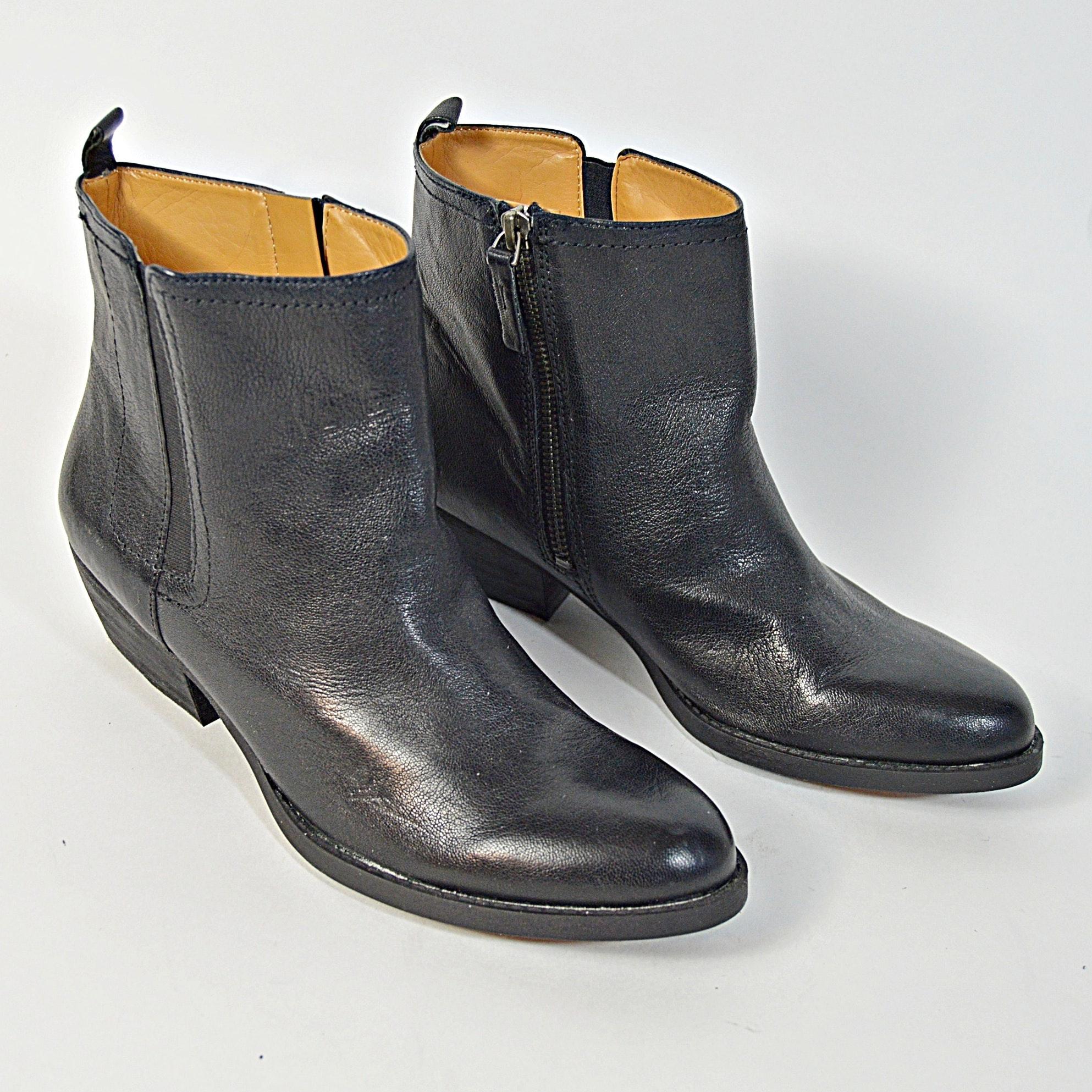 Nine West Black Leather Boots, 8.5M