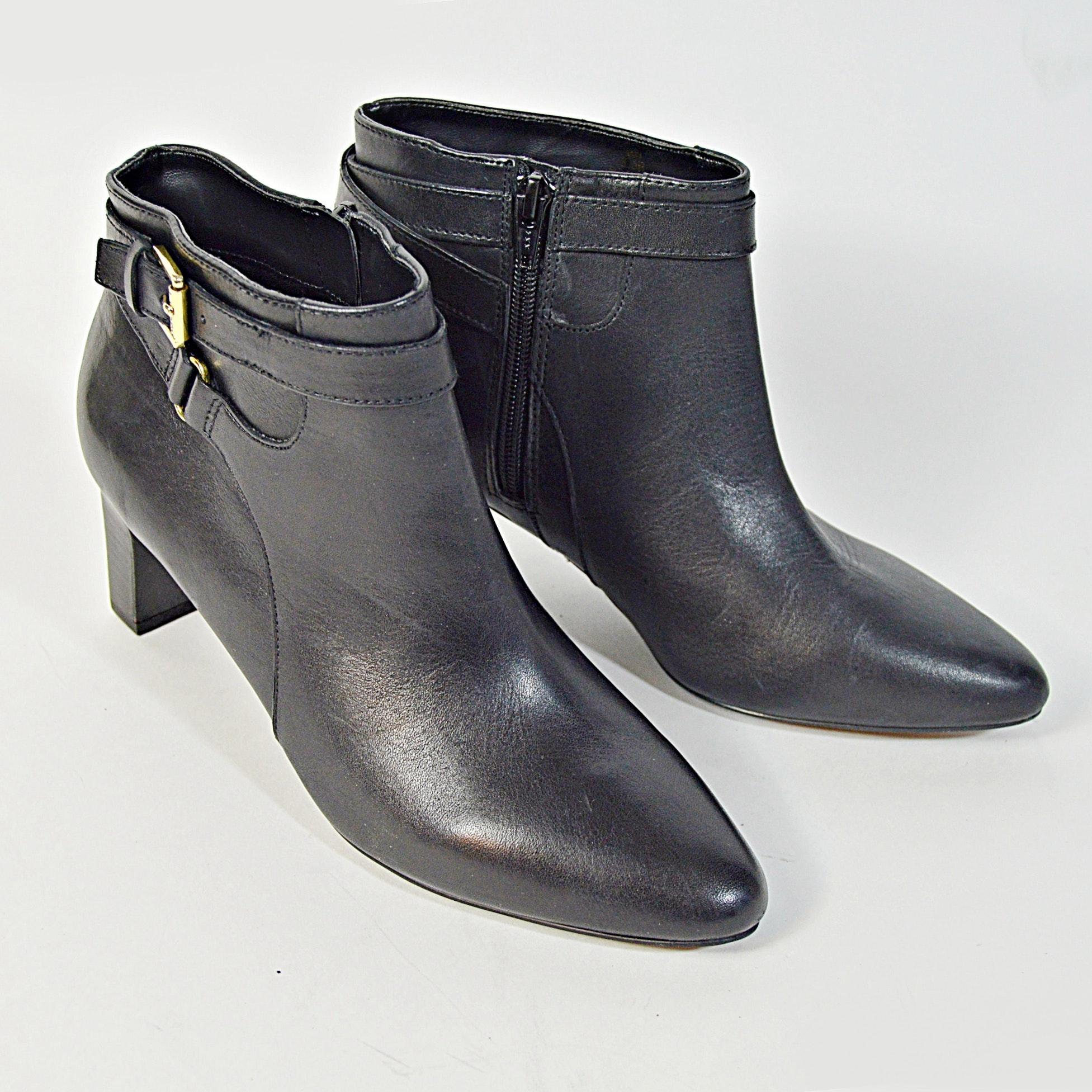 Lauren Ralph Lauren Black Leather Boots, 8.5M