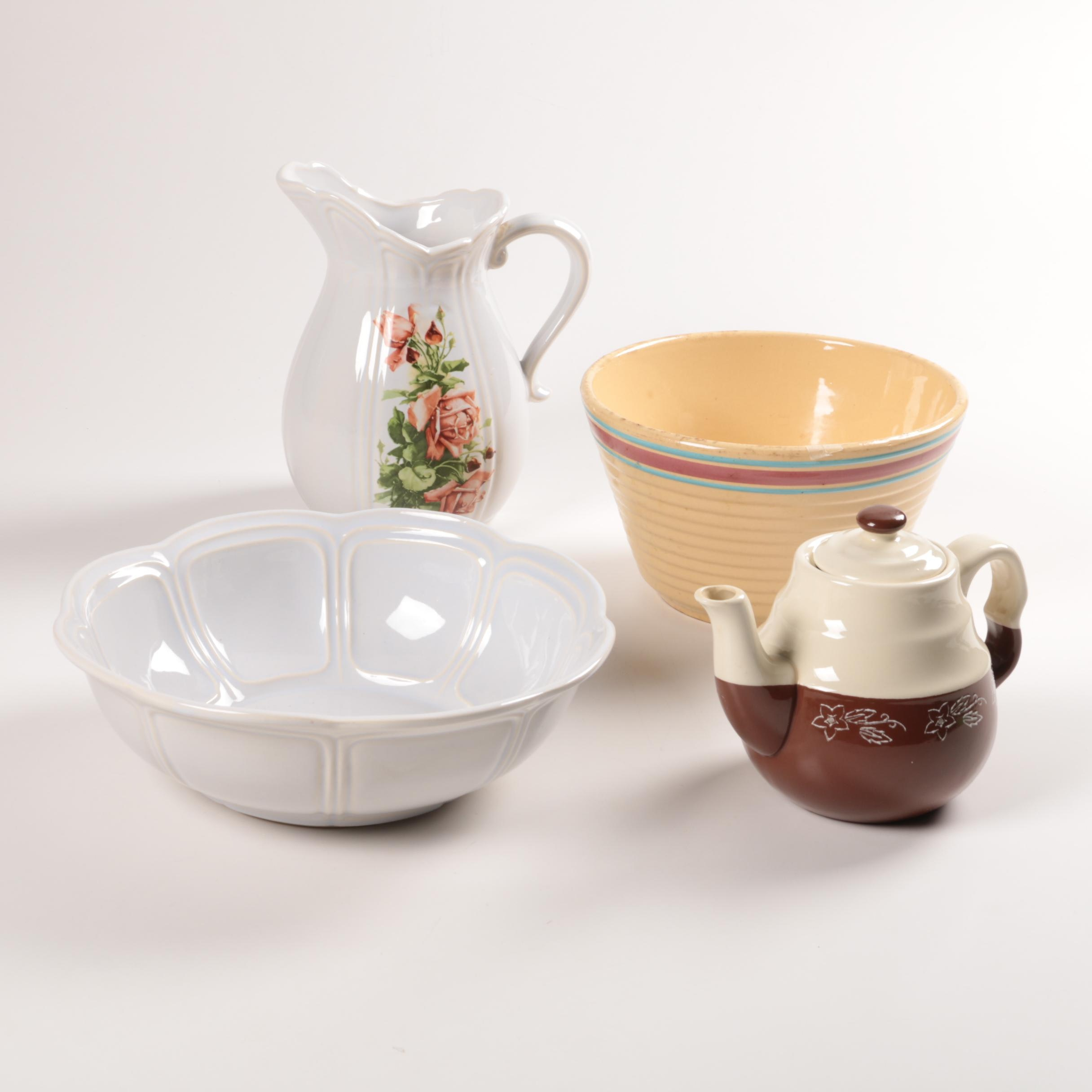 Collection of Mid Century Stoneware Featuring Watts and McCoy