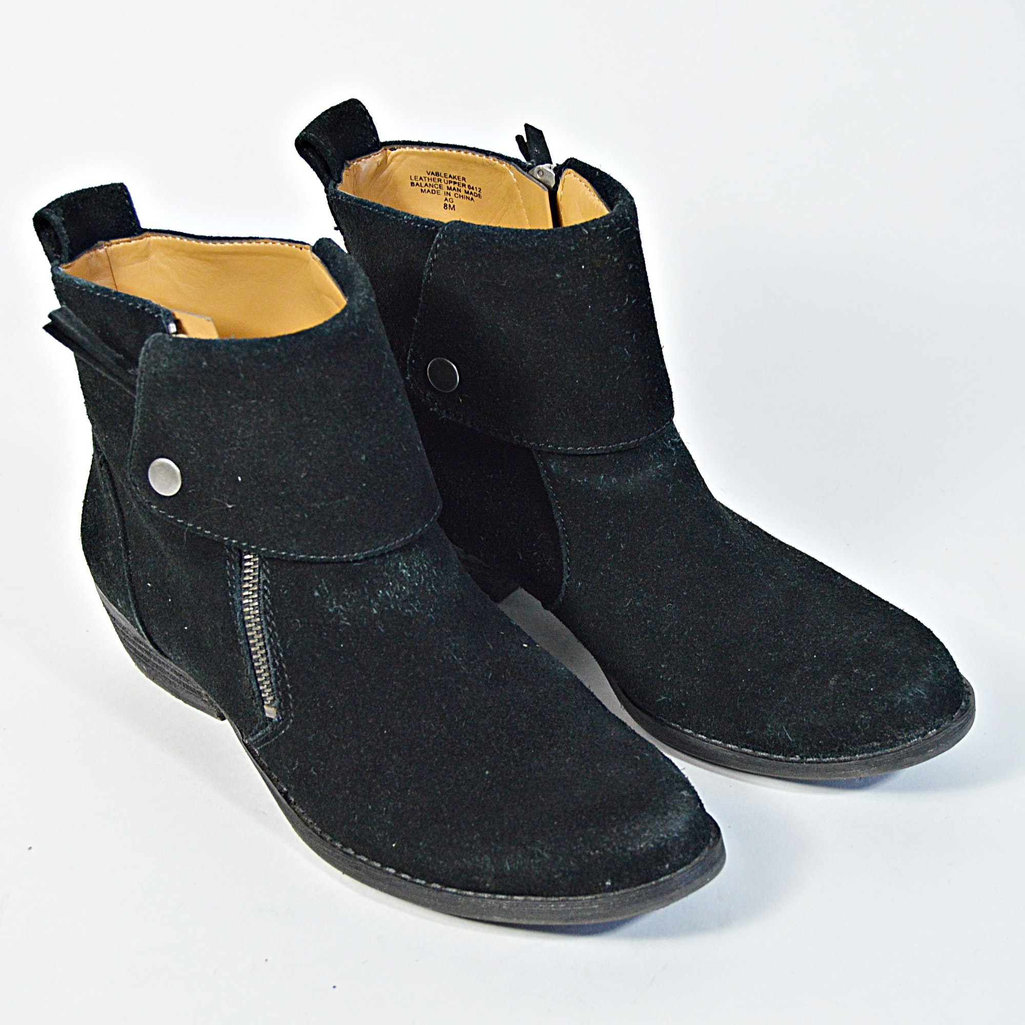 Nine West Black Leather Boots, 8M