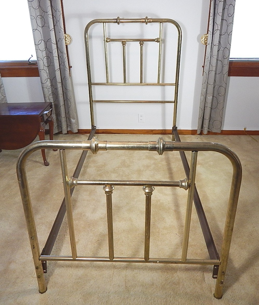 Vintage Brass Twin Size Bed Frame