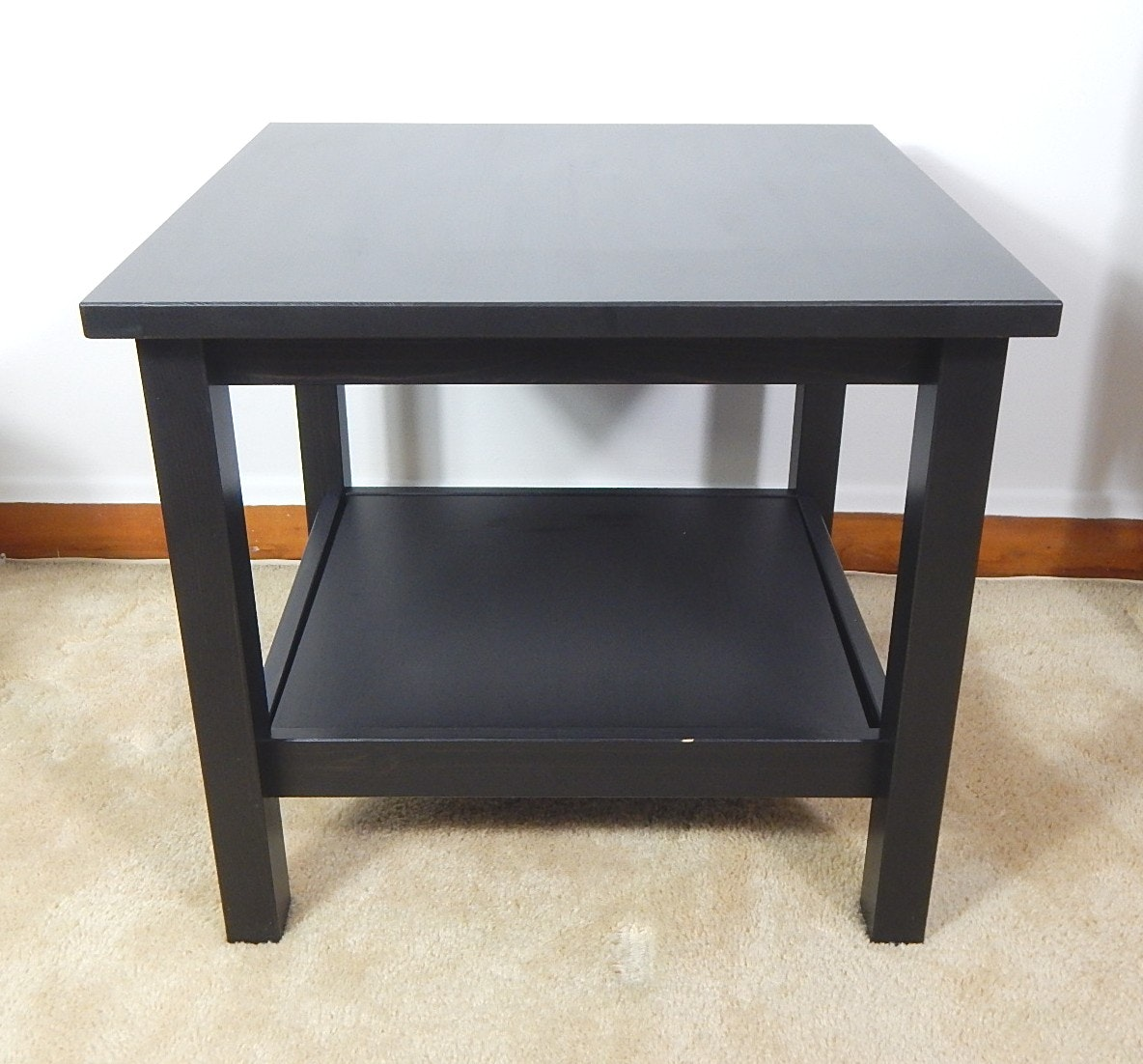Black Block Style End Table