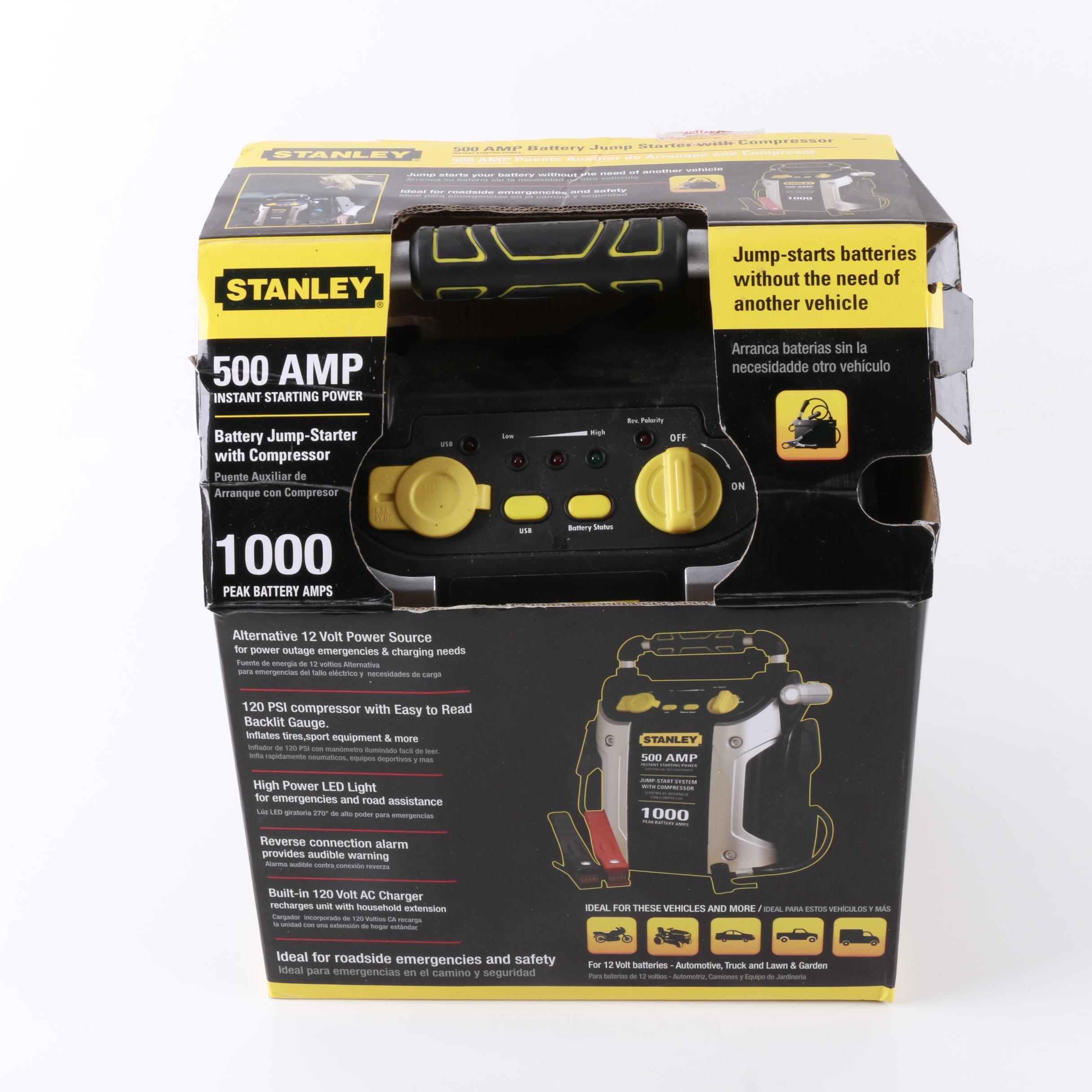 Stanley 500 Amp Jump Starter and Compressor