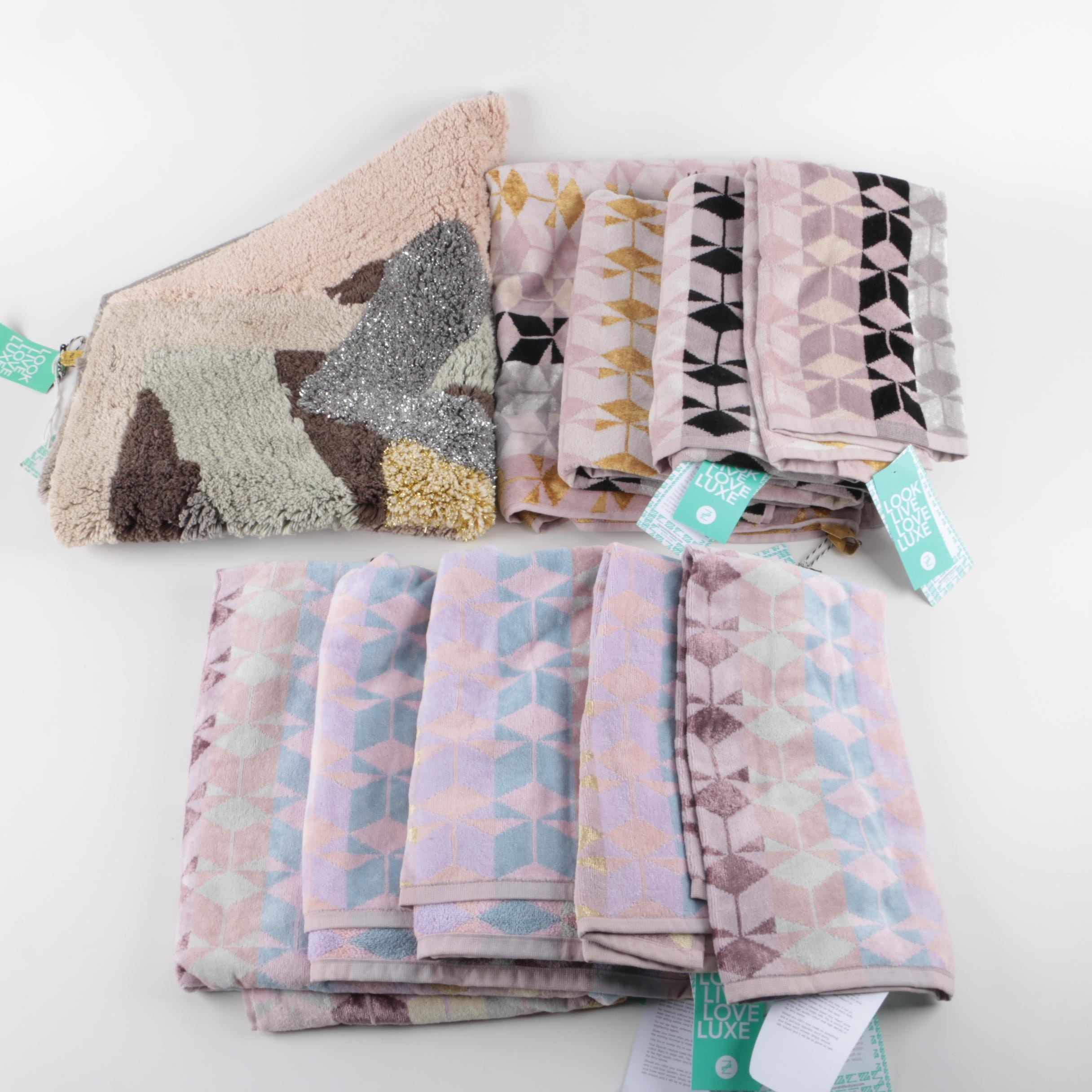 Bath Towels and Rug Featuring Ziporah Lifestyle