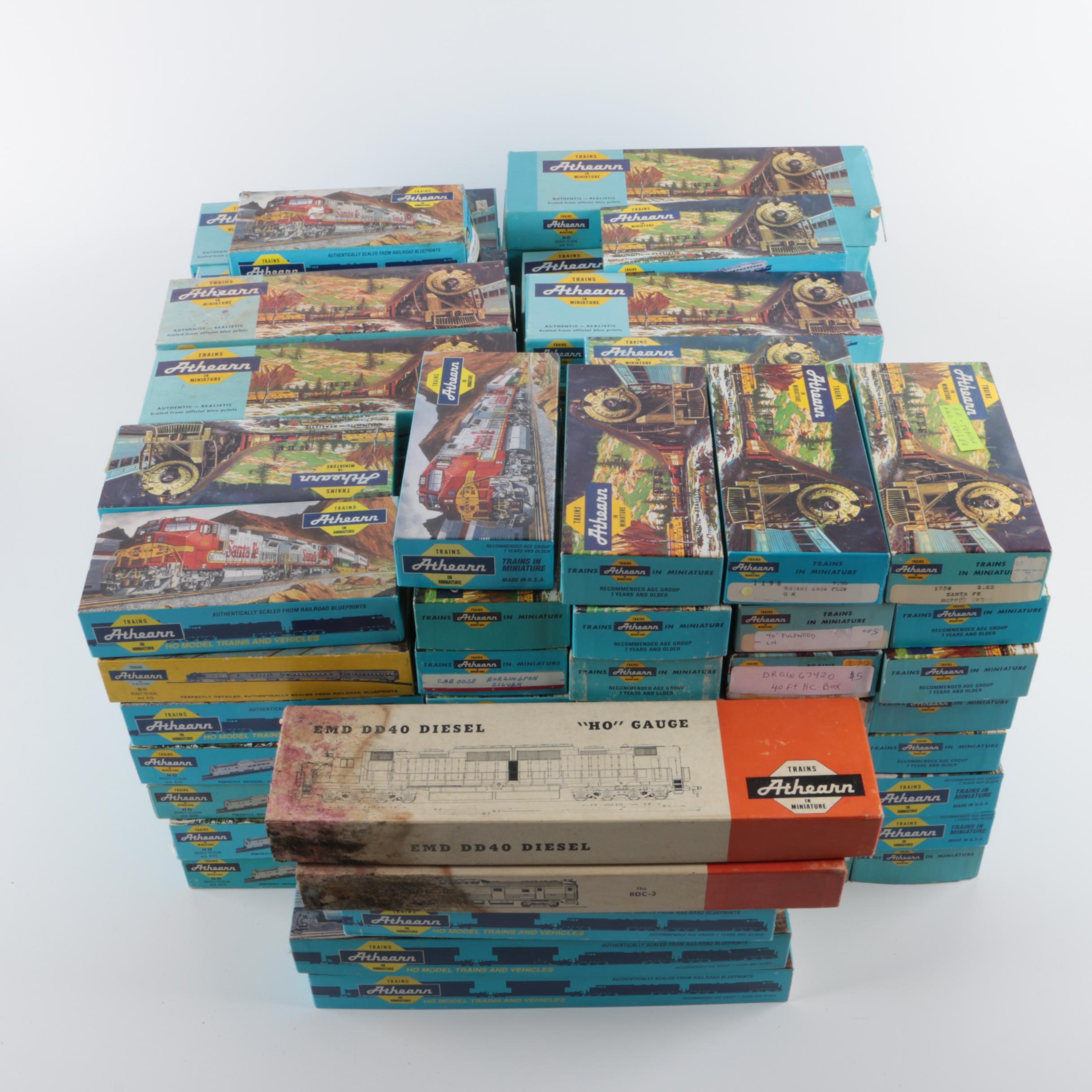 "Empty Athearn Model Train Boxes Including ""Blue Box"""