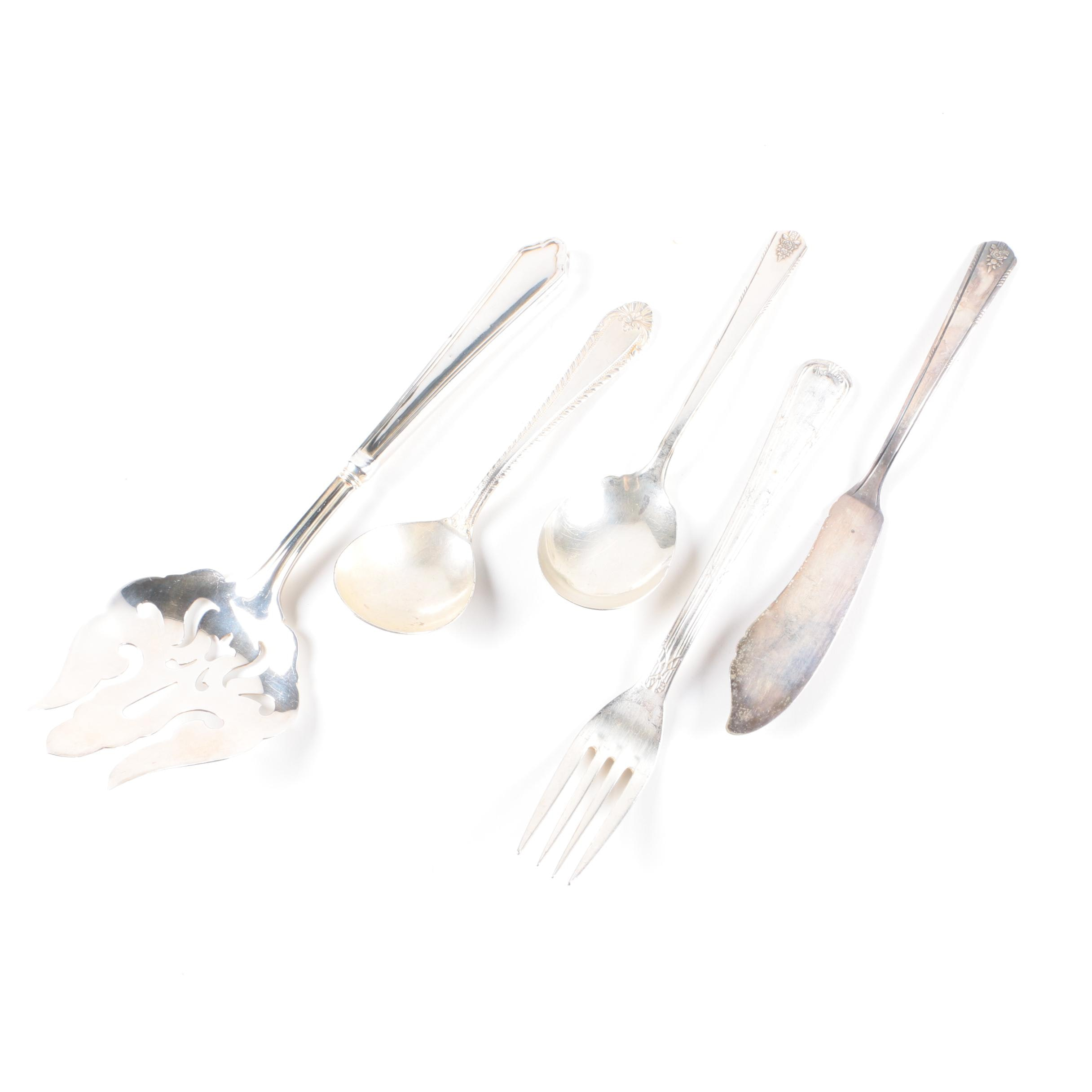 """Reed & Barton """"Old London"""" Silver Plate Spoon and Assorted Flatware"""