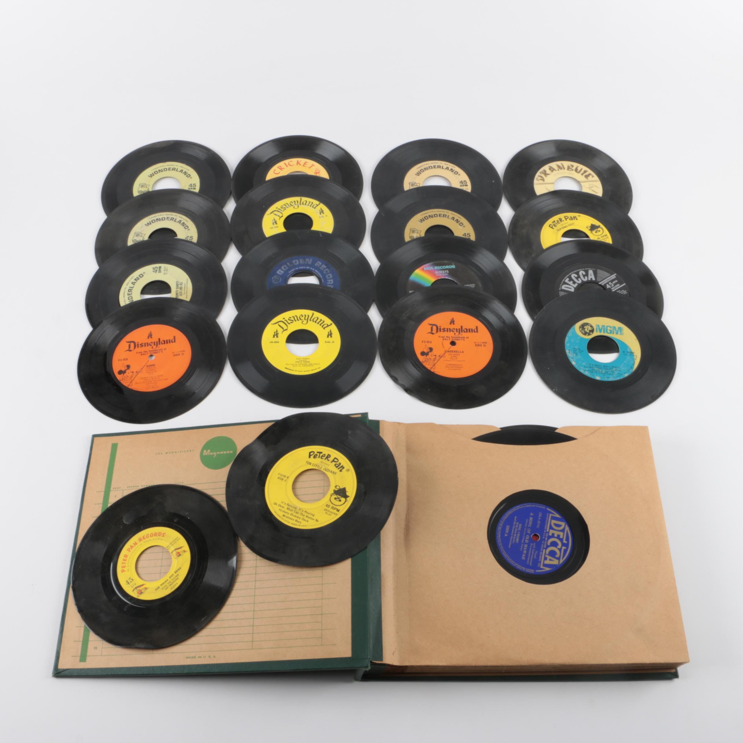"""7"""" Singles and 78 RPM Records, Including Disney"""