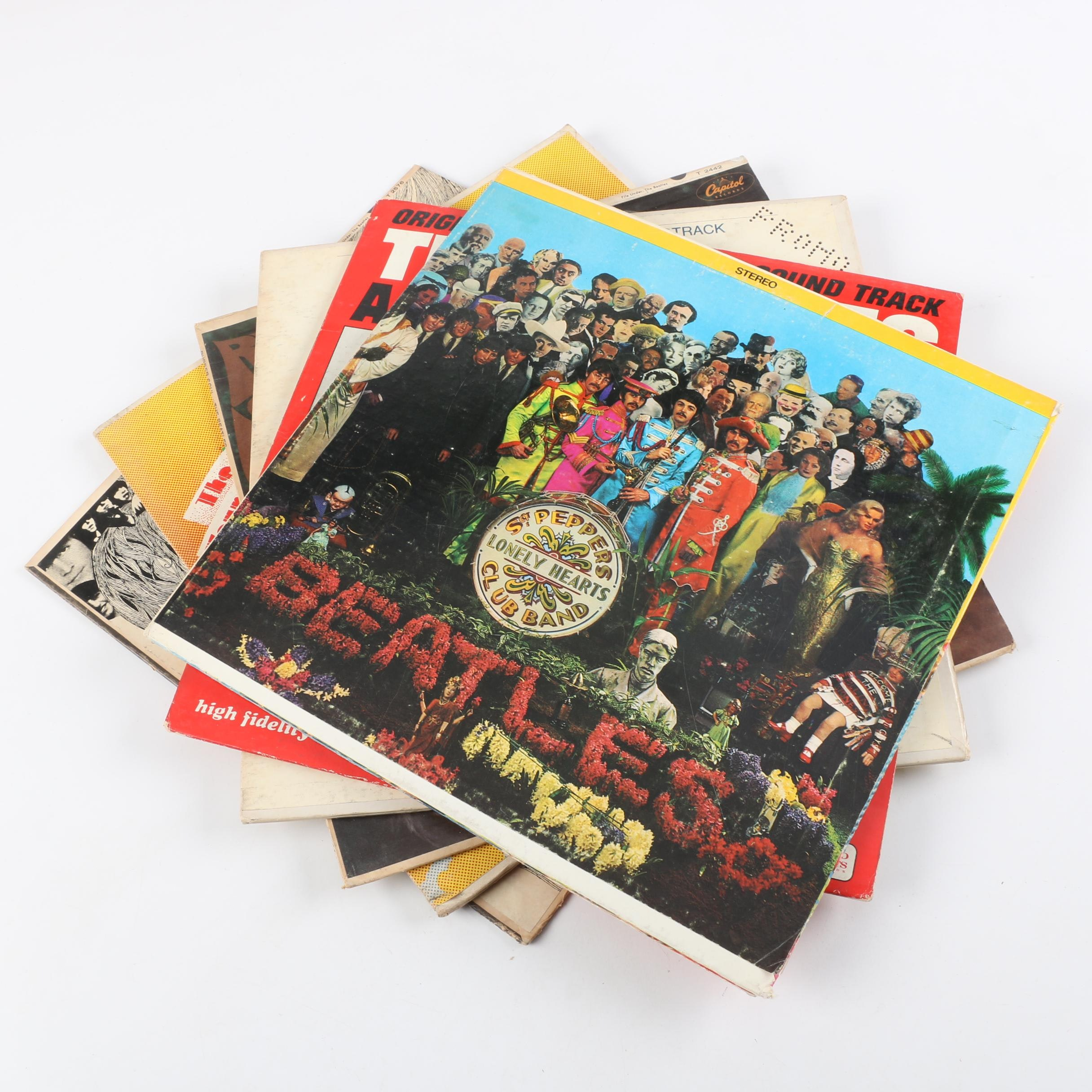 """The Beatles LPs, Including """"Sgt. Pepper's Lonely Hearts Club Band"""" With Cutouts"""