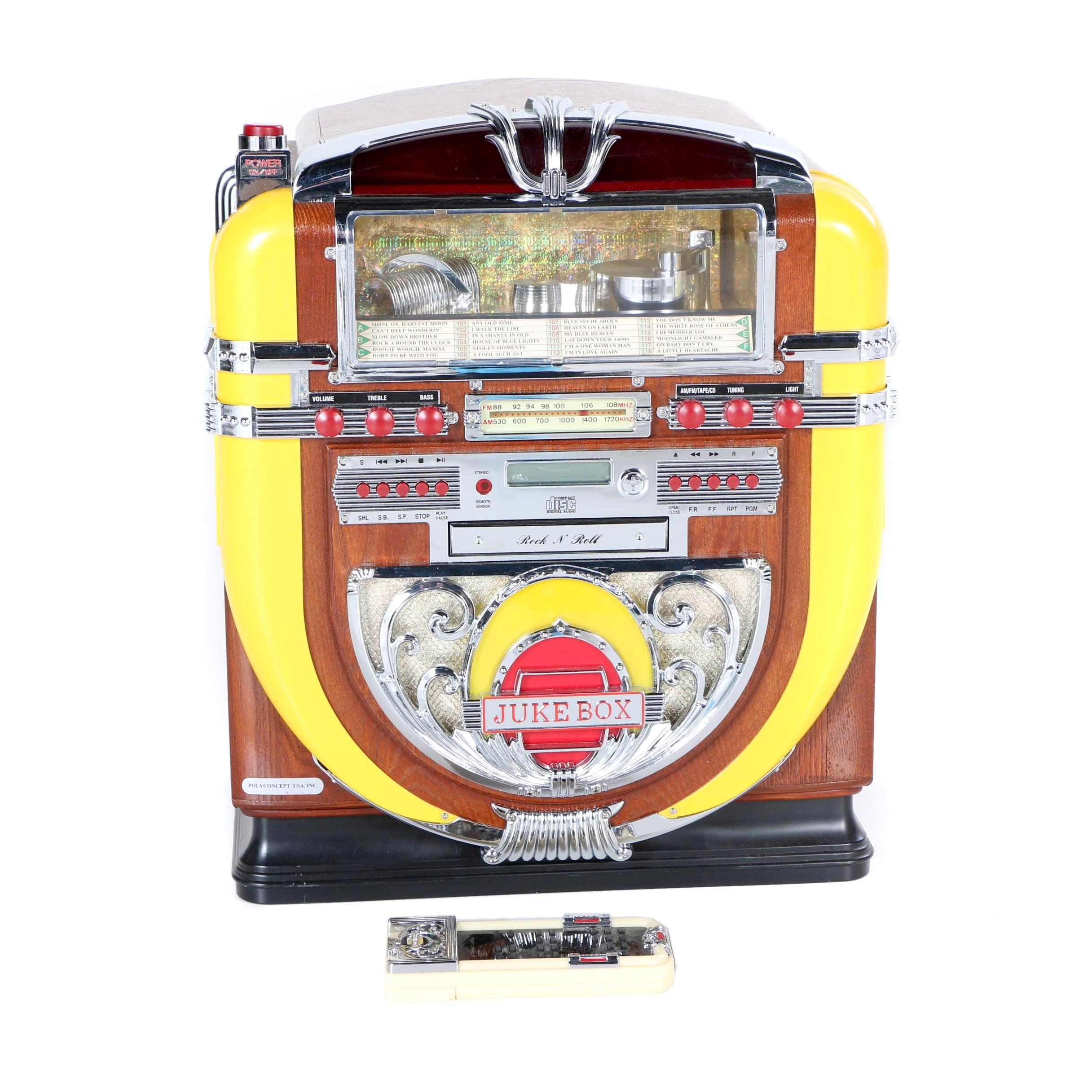 "Polyconcept ""Rock N Roll Jukebox"" CD Player & Radio"