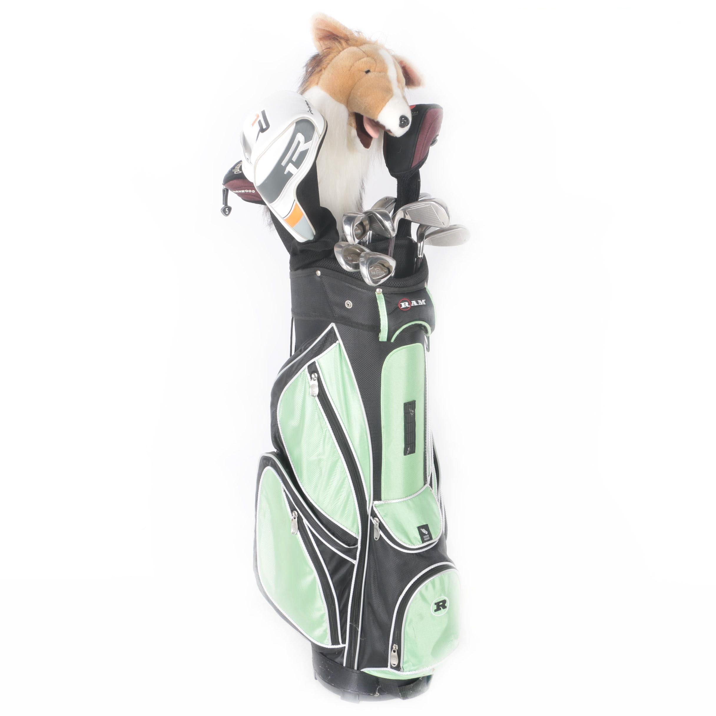 Golf Clubs Including Callaway with RAM Golf Bag