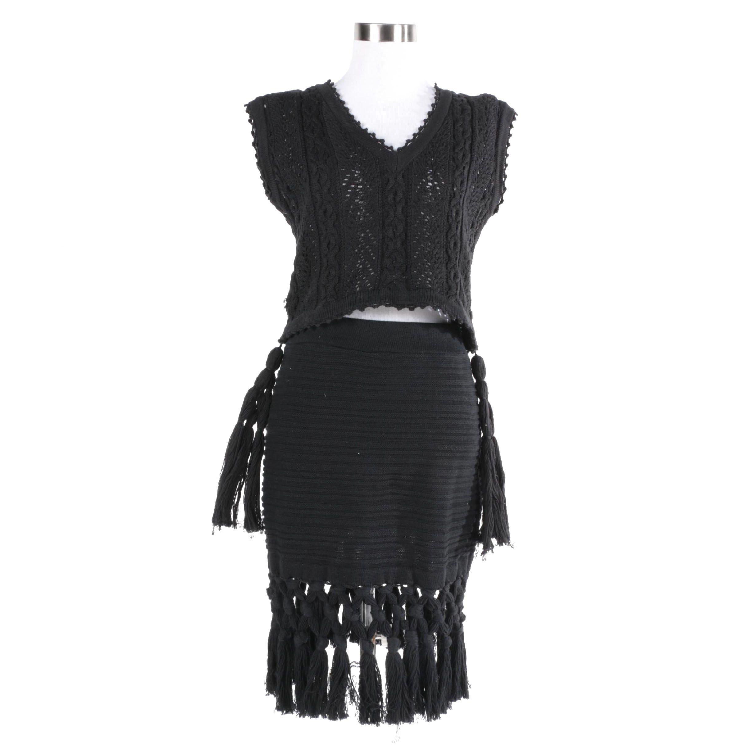 Women's Claude Barthelemy Paris Knit Top and Skirt