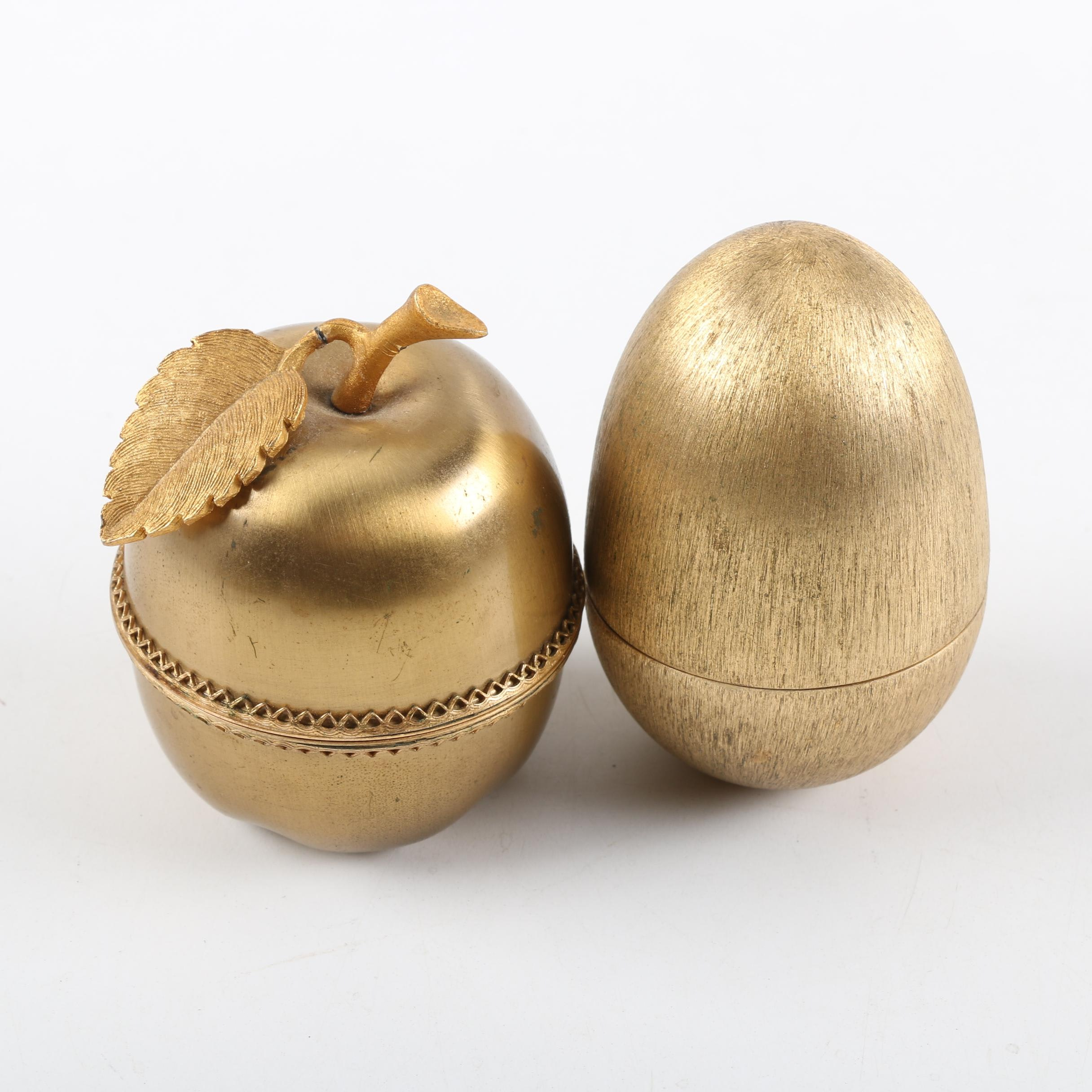 Evans Apple and Egg Shaped Table Lighters