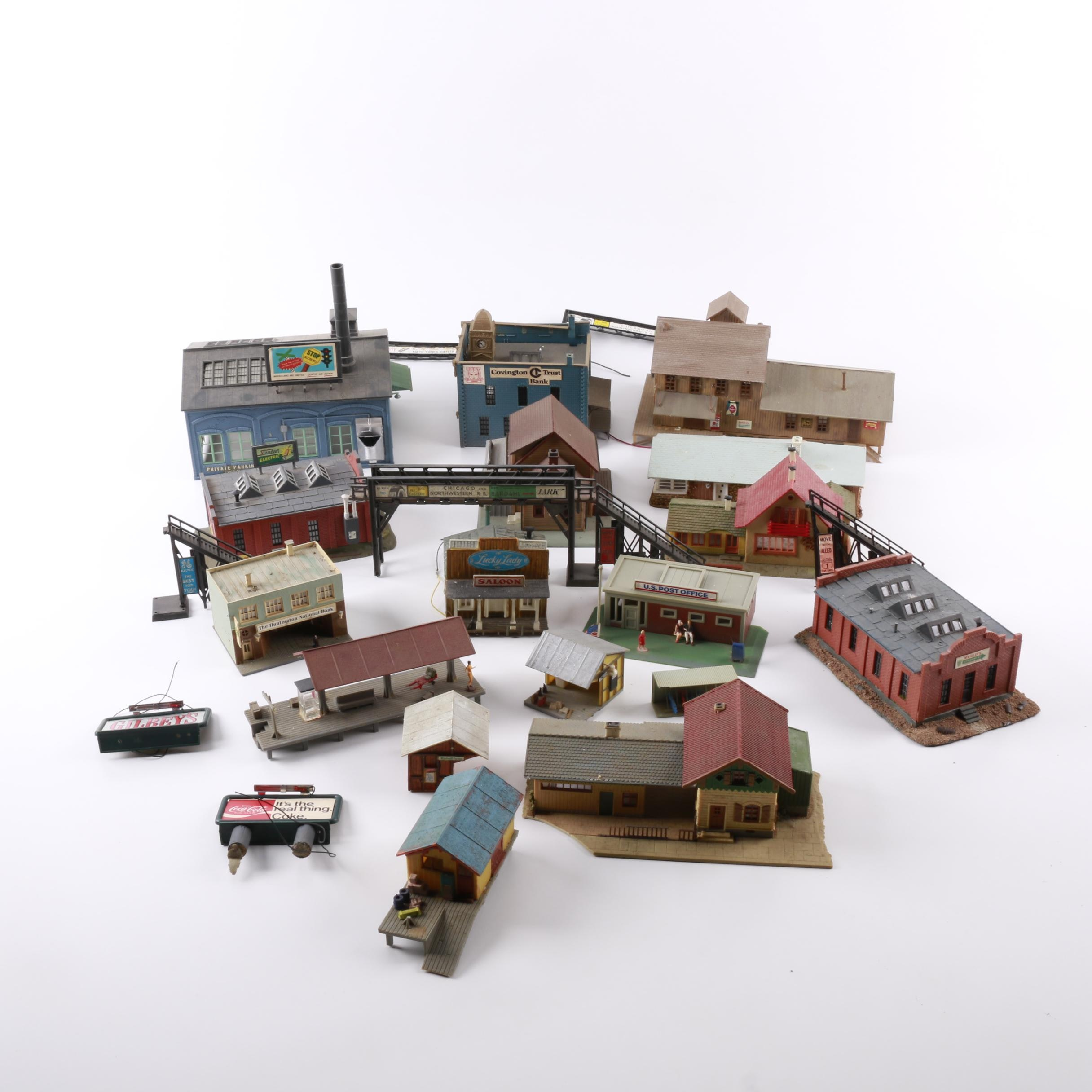 Collection of Model Railroad Buildings
