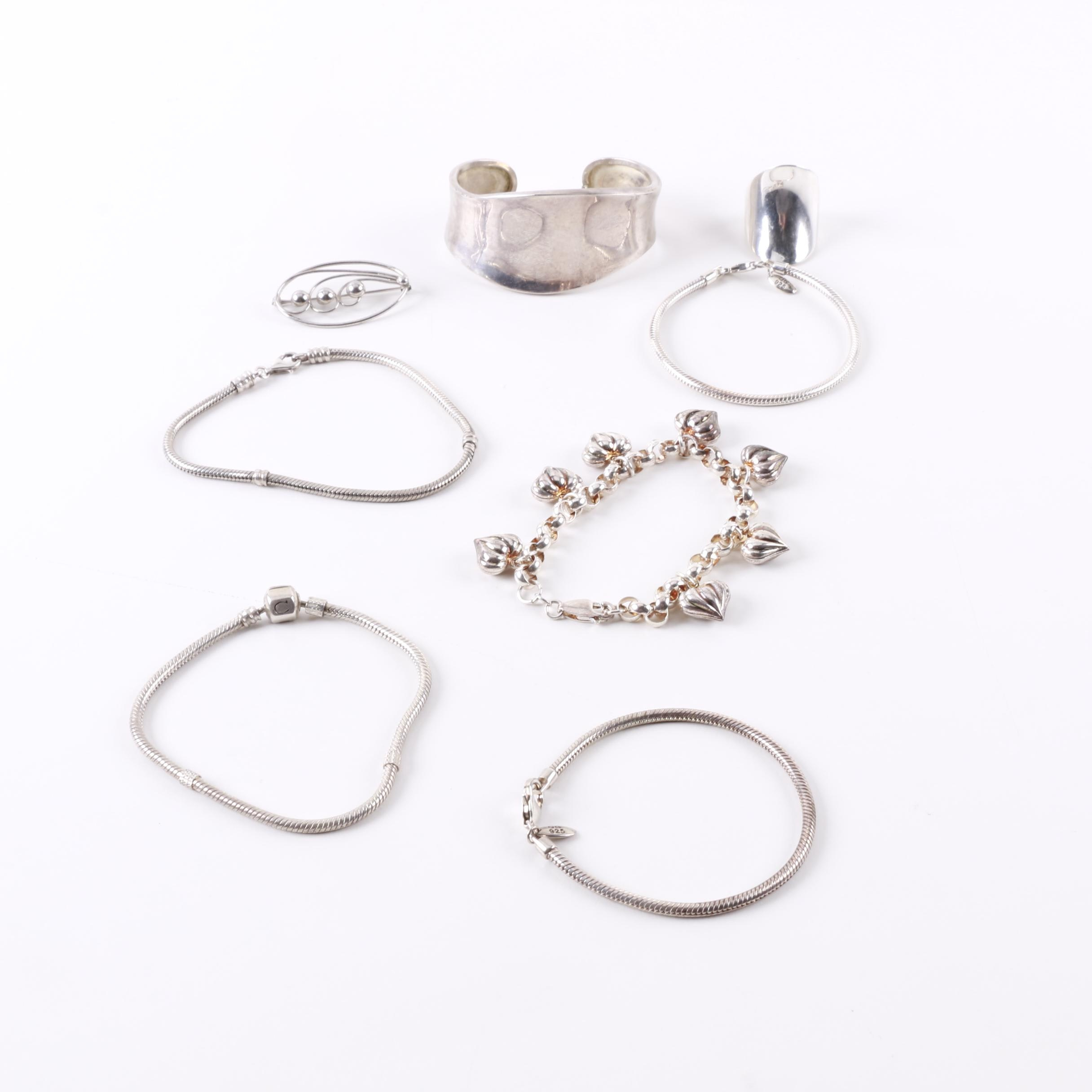 """Assortment of Sterling Silver Jewelry Including """"Reflections"""" Bracelets"""
