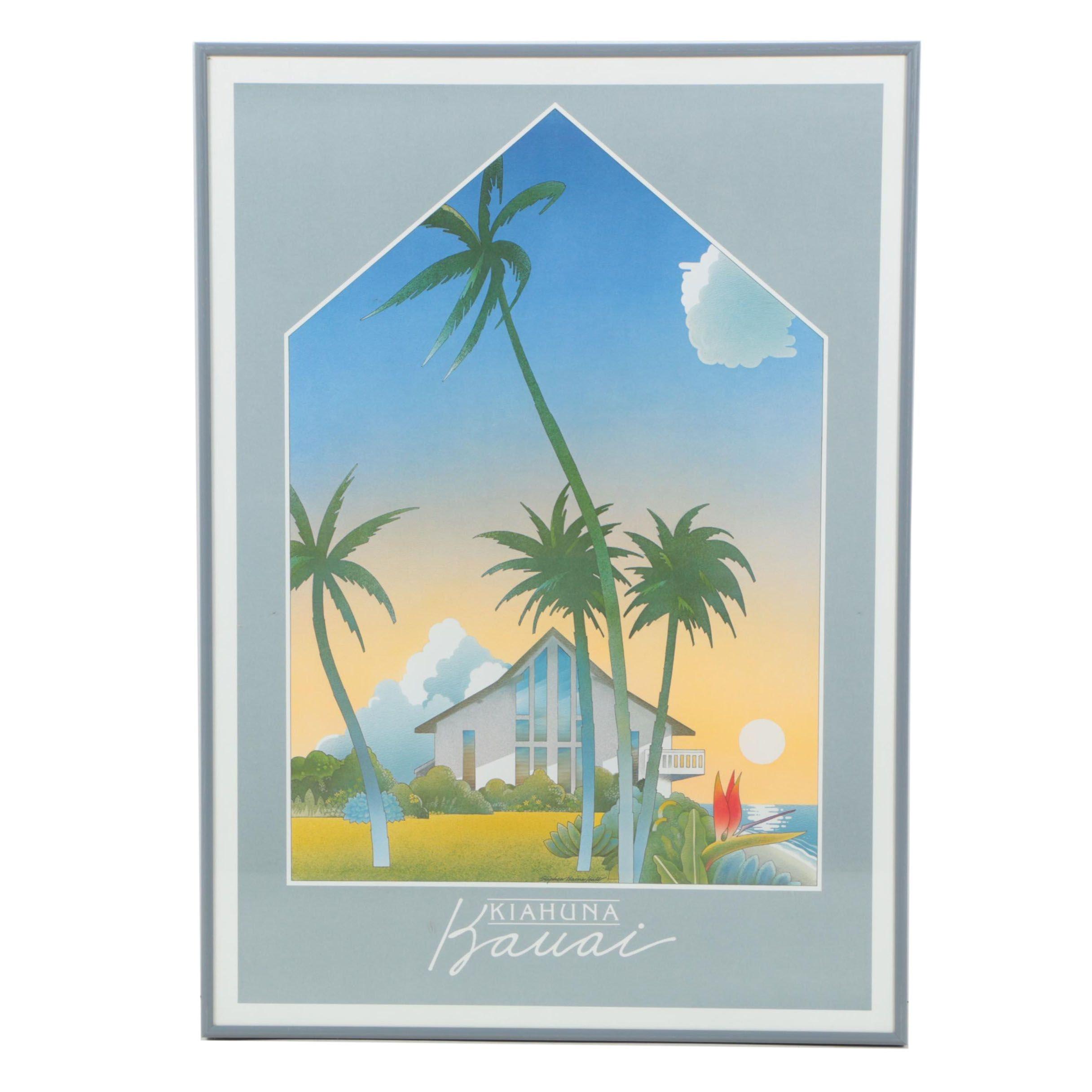 Kiahuna Kauai Poster After Painting by Stephen Haines Hall