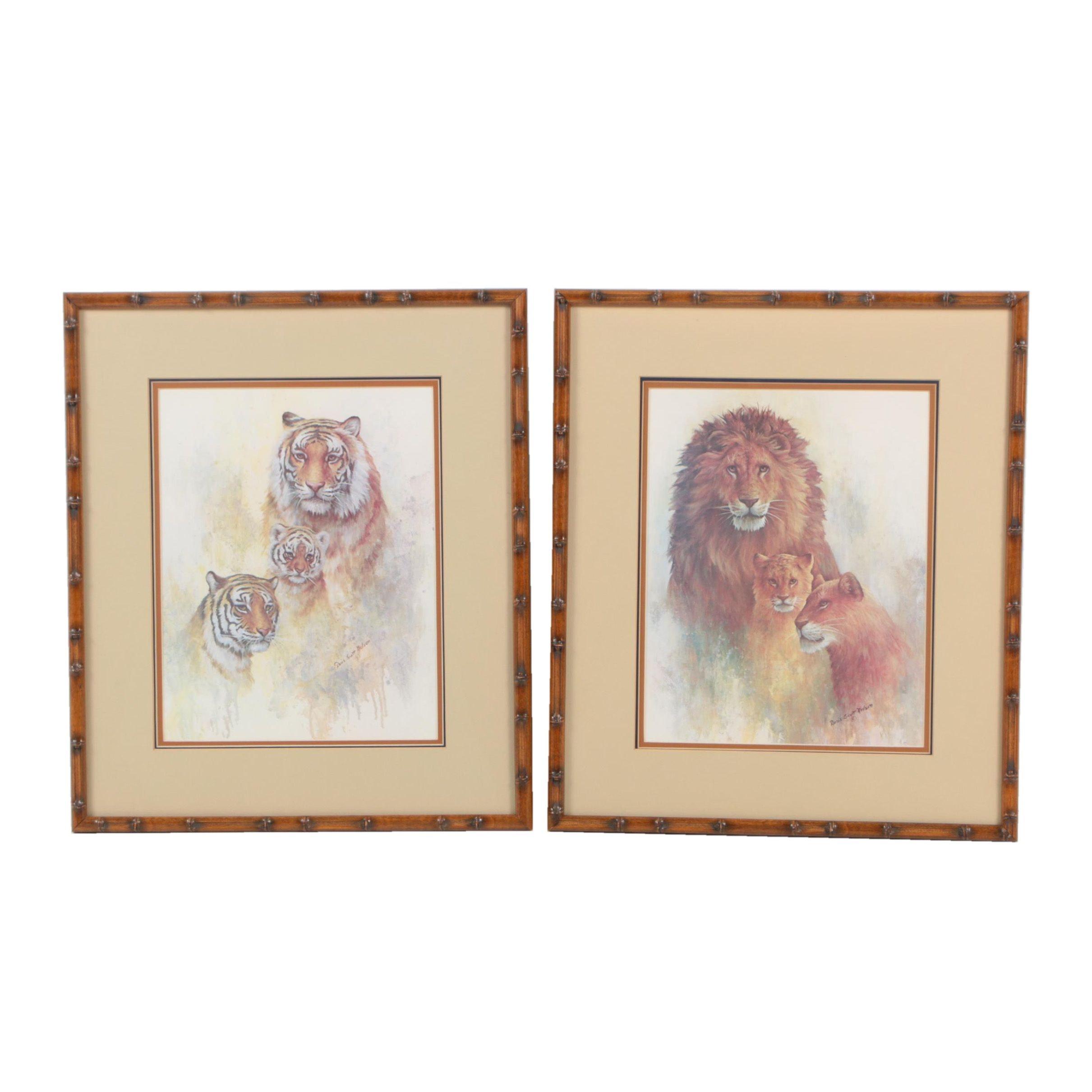 Offset Lithographs After Big Cat Illustrations by Doris Scott Nelson