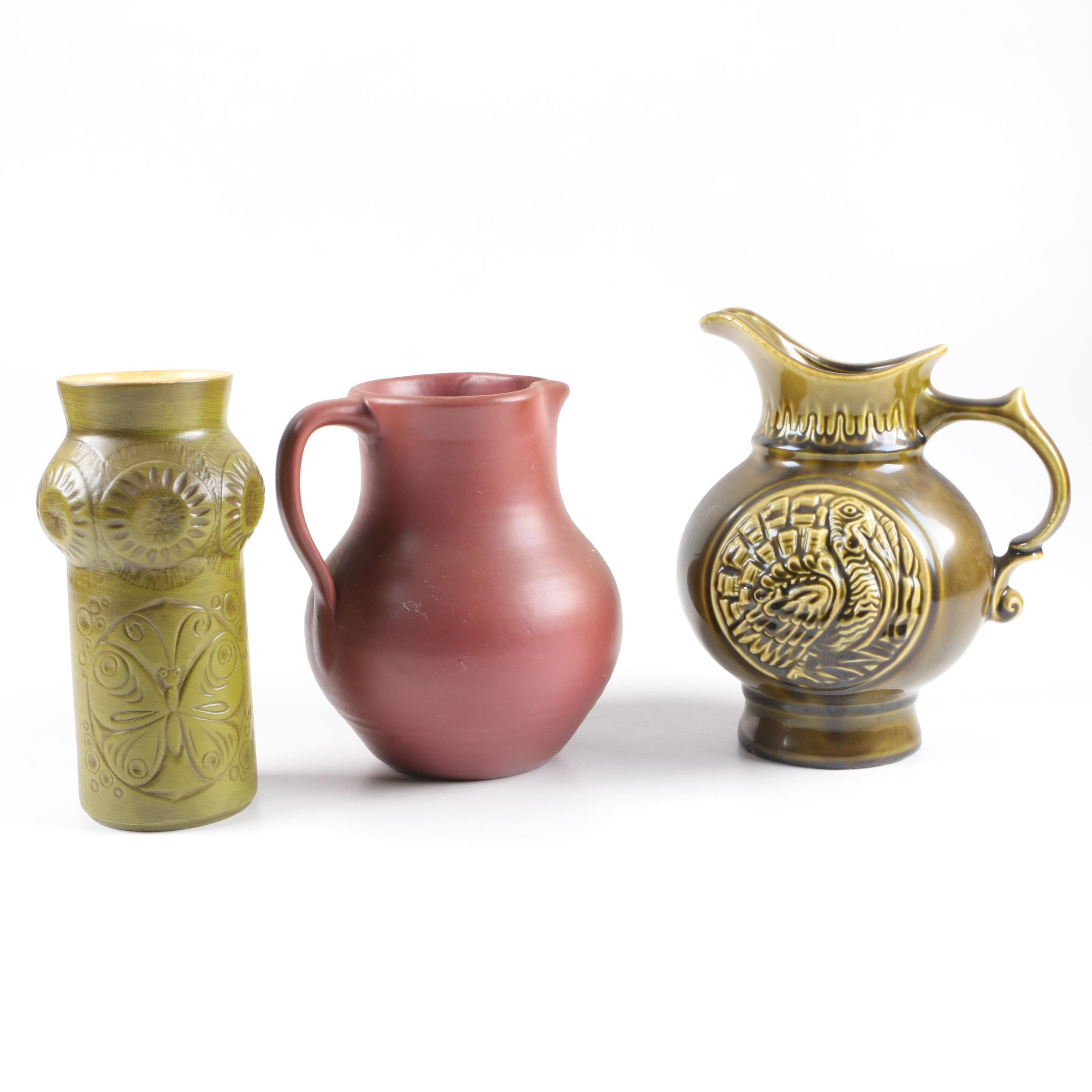 Selection of Mid Century Pottery Pieces Featuring McCoy
