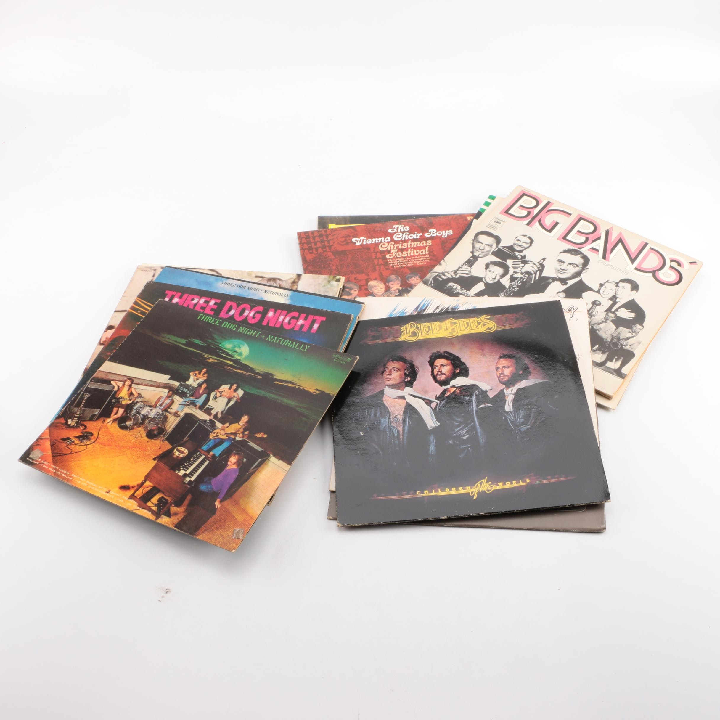 Three Dog Night, Jackson Browne, Burl Ives and Other Rock/Pop and Holiday LPs