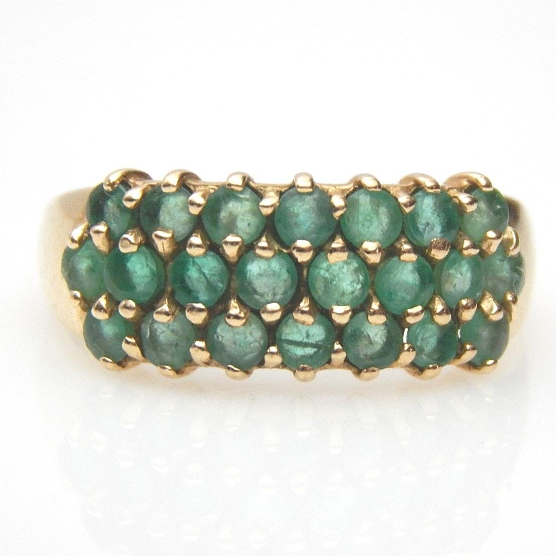 10K Yellow Gold Emerald Ring