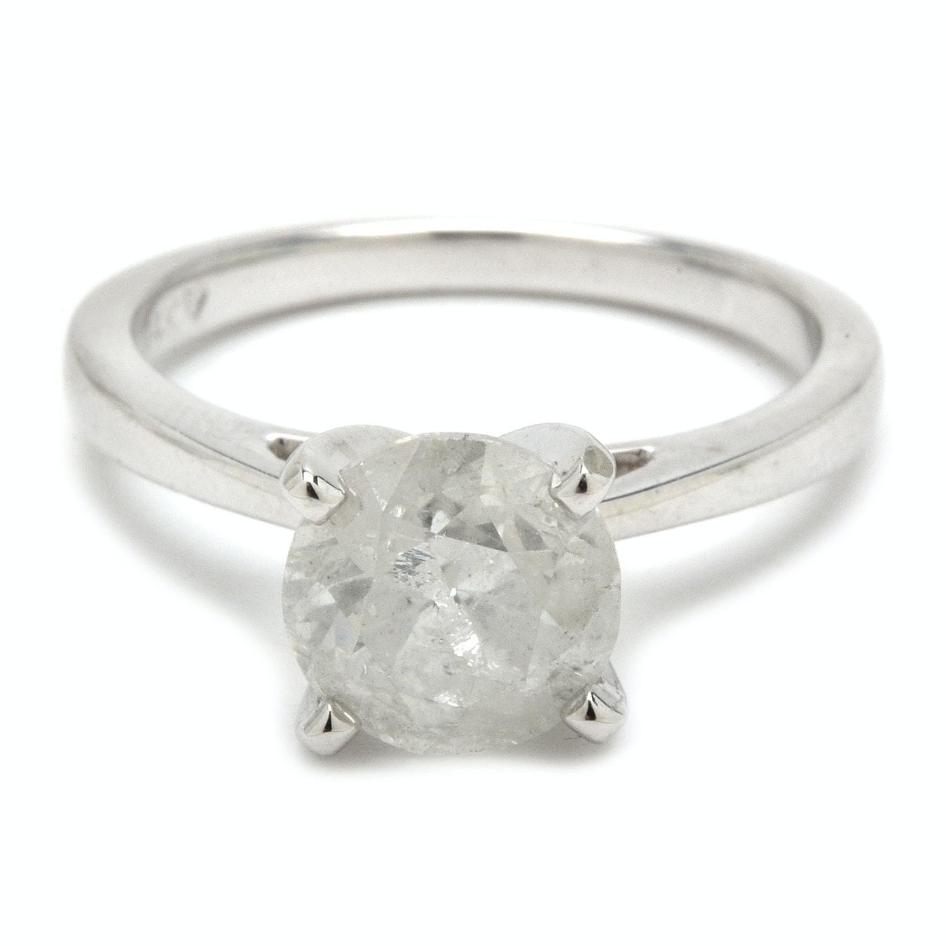 18K White Gold 2.14 CT Diamond Ring