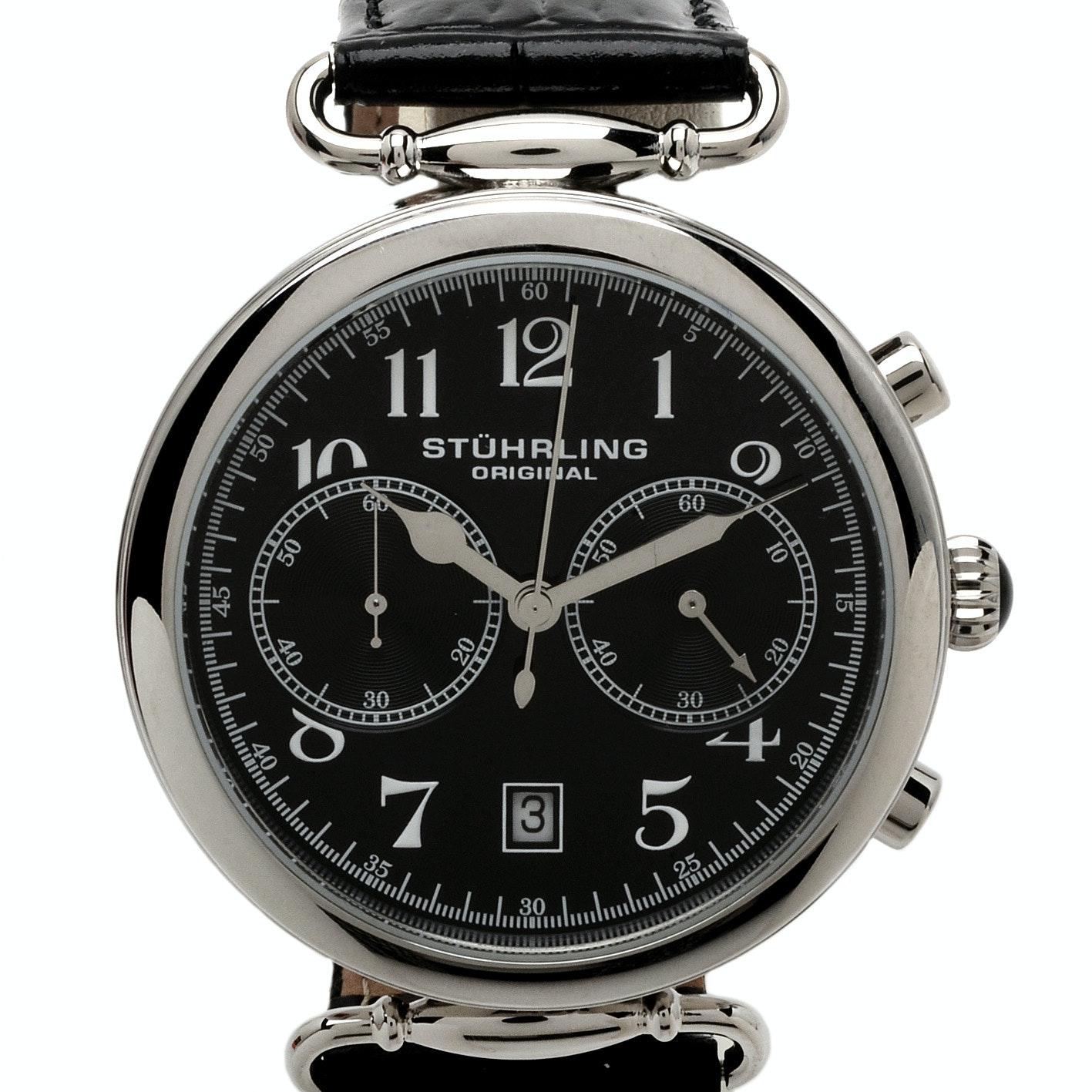 Stührling Original Aviator Stainless Steel Wristwatch