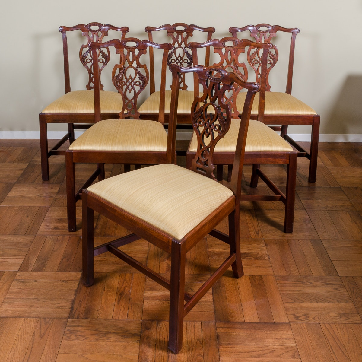 Set of Chippendale Style Mahogany Dining Chairs by Baker Furniture