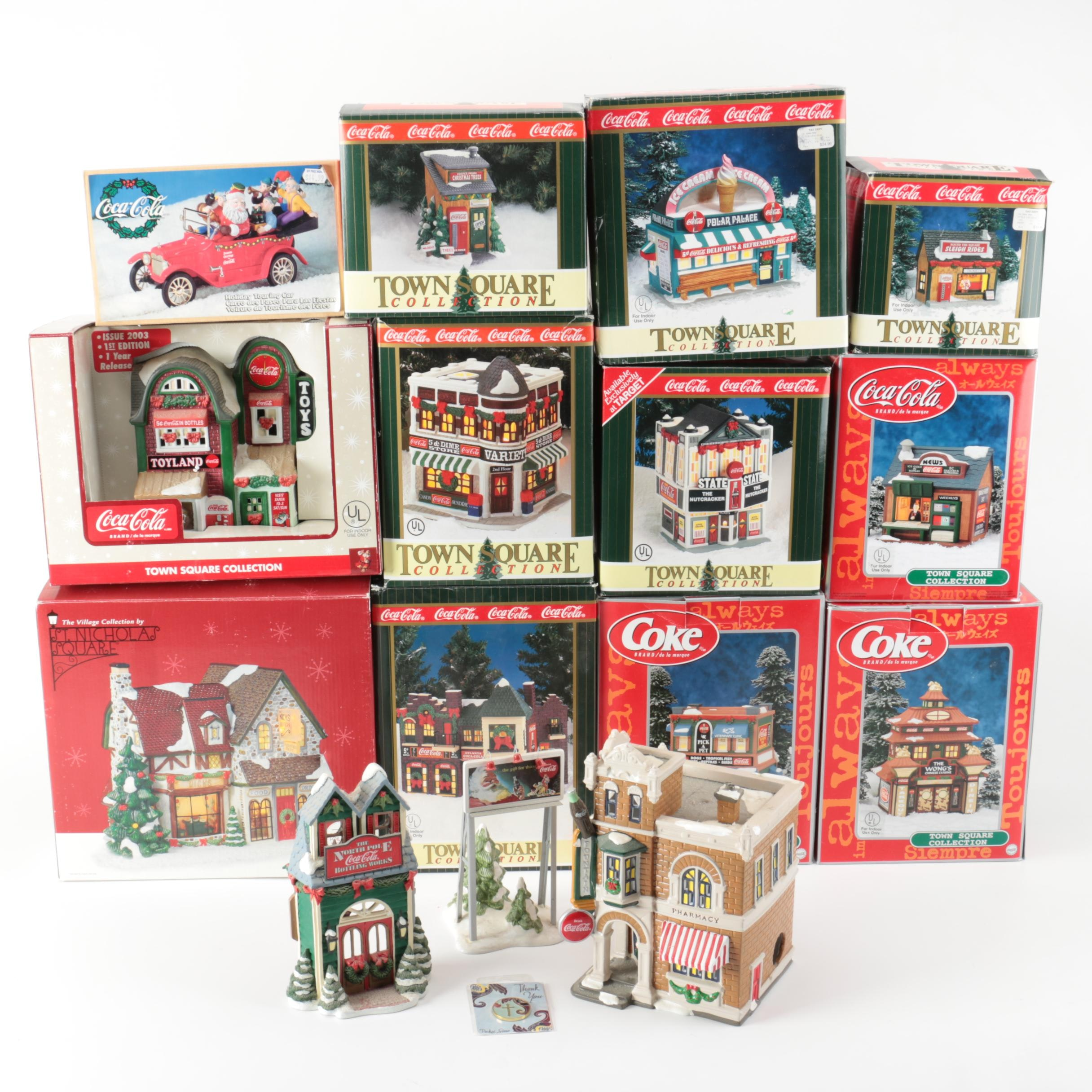 Coca-Cola and Coke Town Square Collection Miniature Buildings
